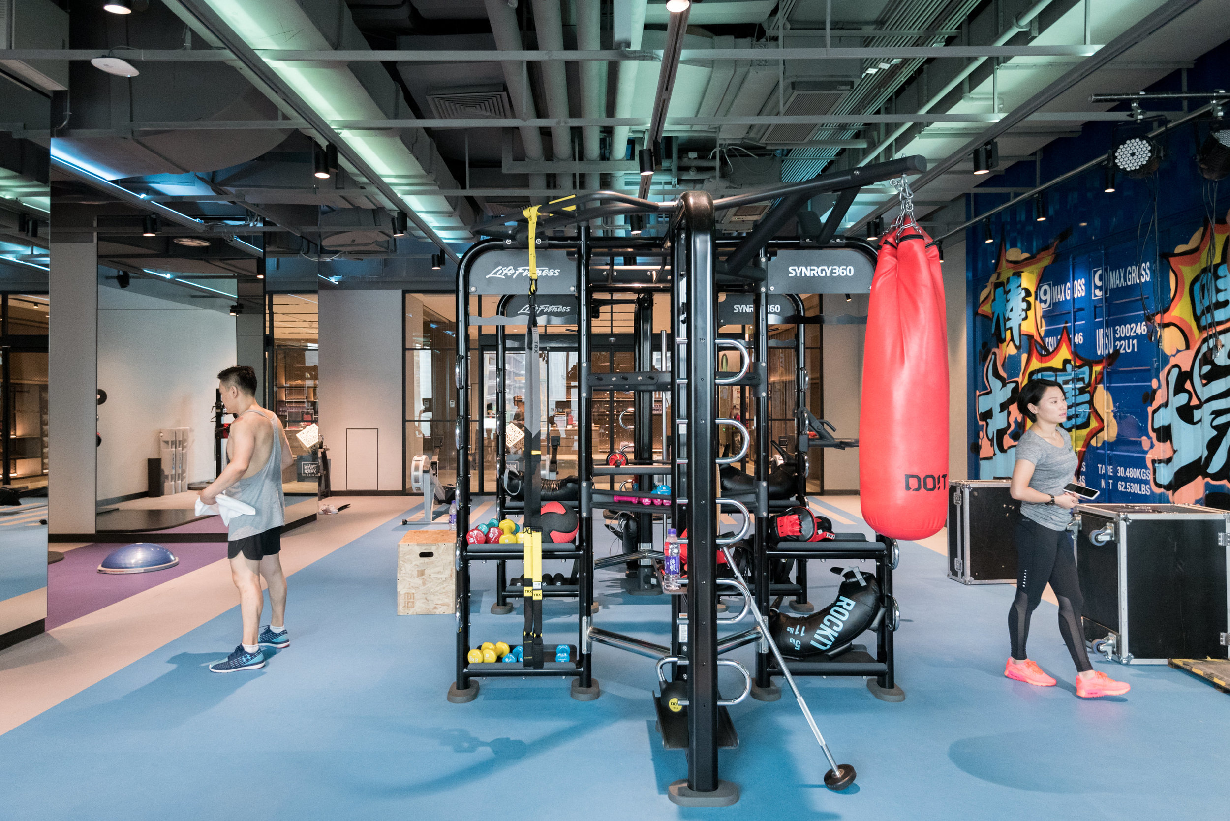 Two Storey Gym in Guomao CBD  Trainyard - Hotel Jen Beijing