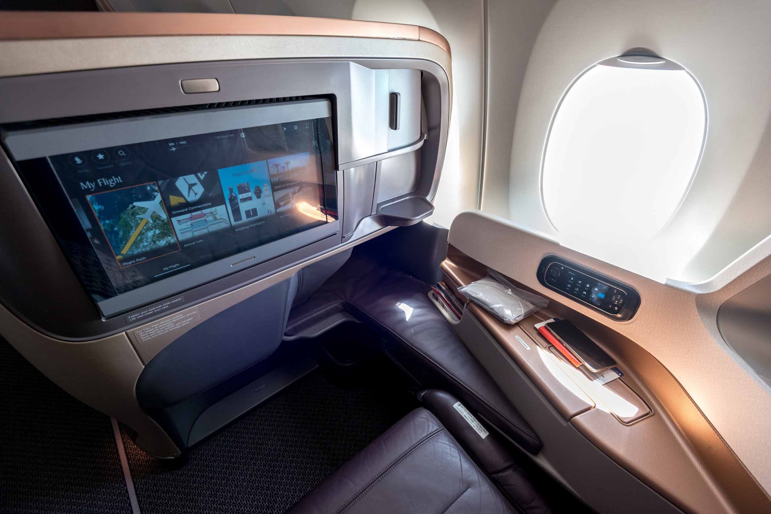 Seat 14K  Singapore Airlines SQ856 Business - SIN to HKG