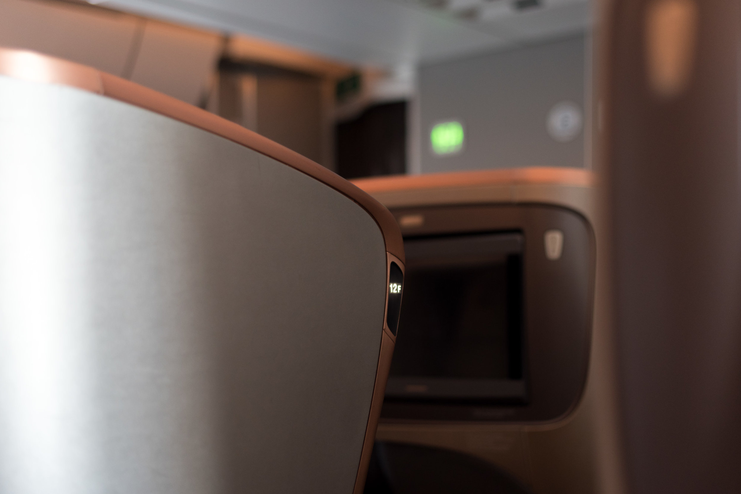 Seat 12F  Singapore Airlines SQ856 Business - SIN to HKG