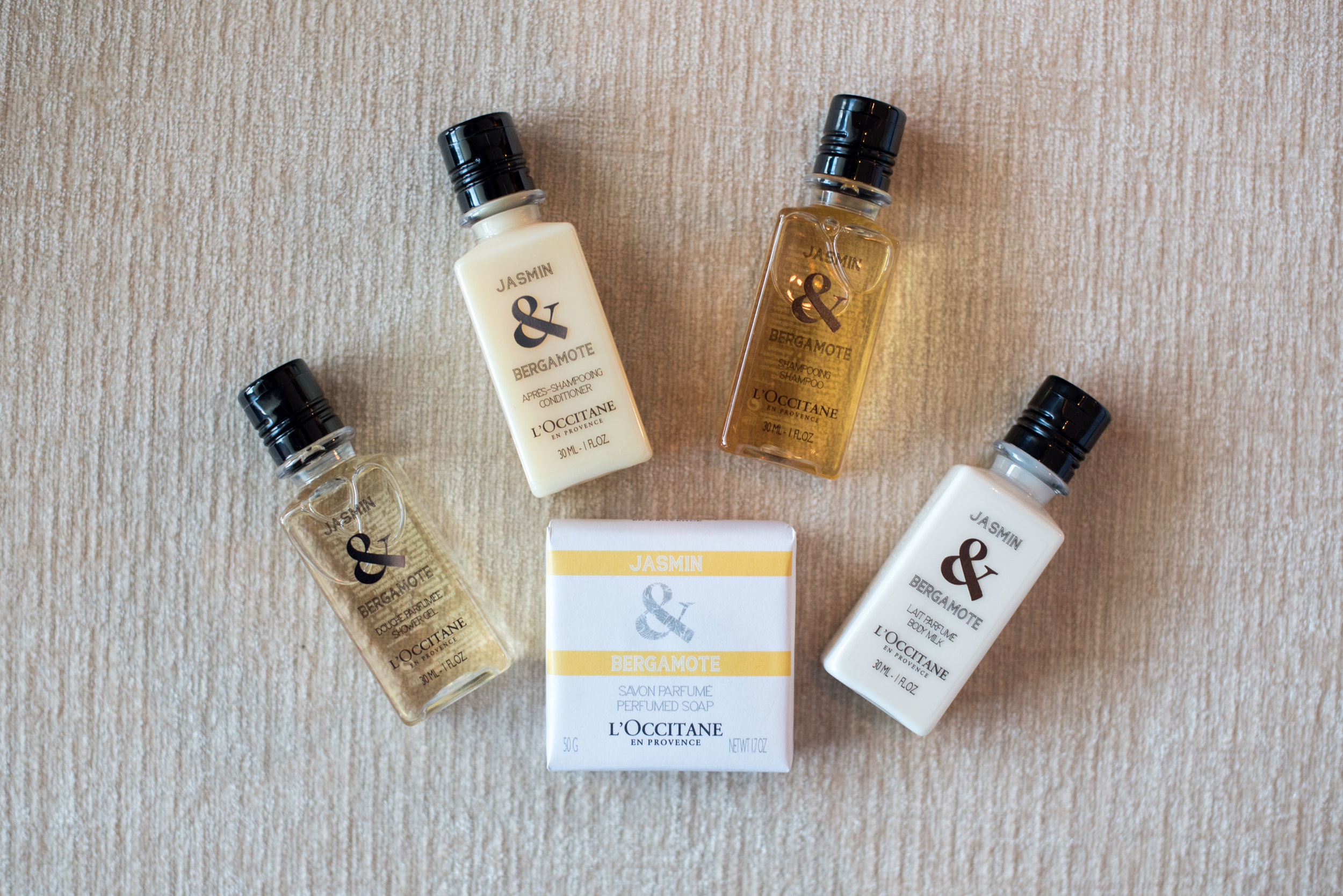 Bath Amenities by   L'Occitane en Provence  Tower Wing Horizon Club Deluxe Room - Shangri-La Hotel, Singapore