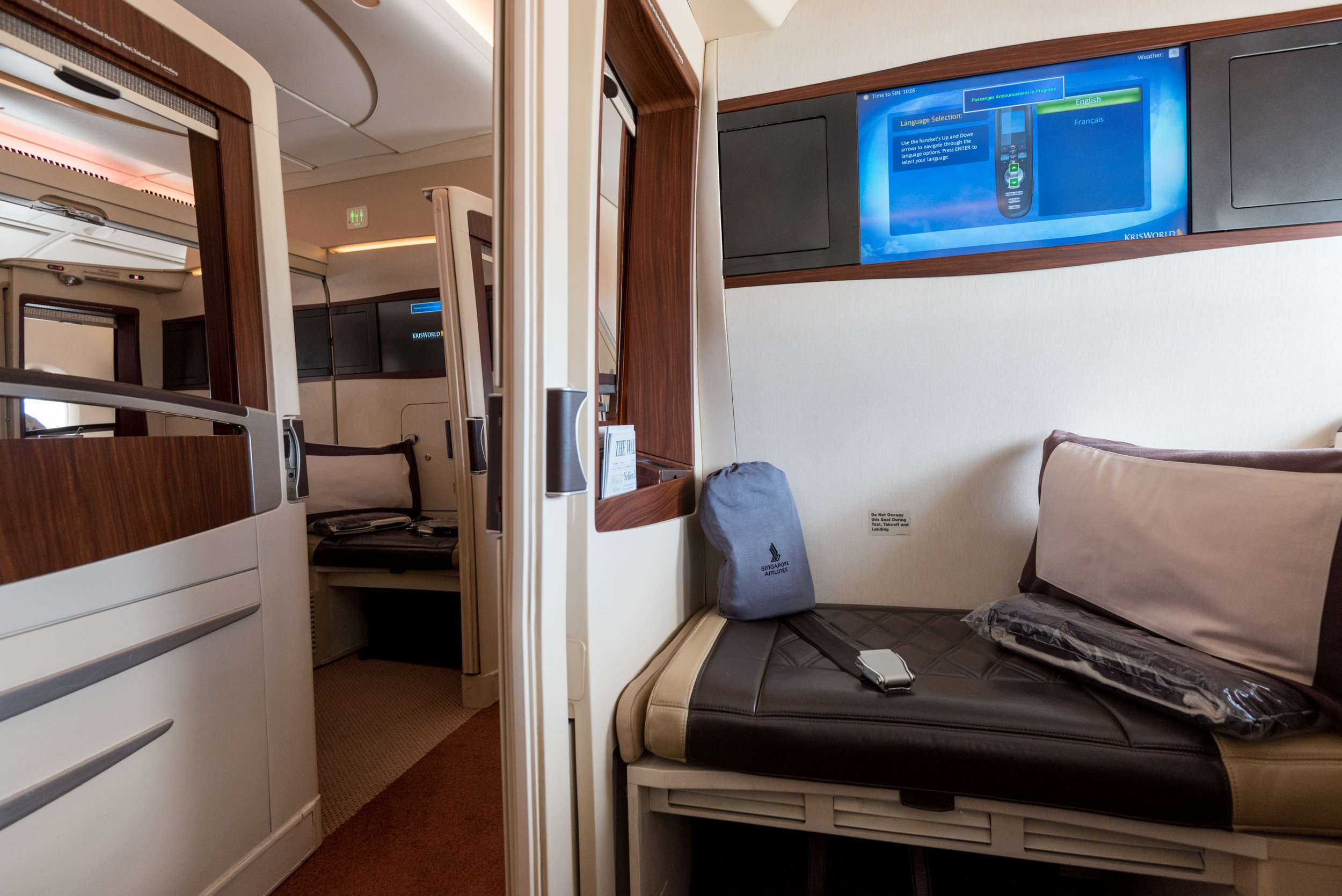 Suites on Singapore Airlines (A380-800)