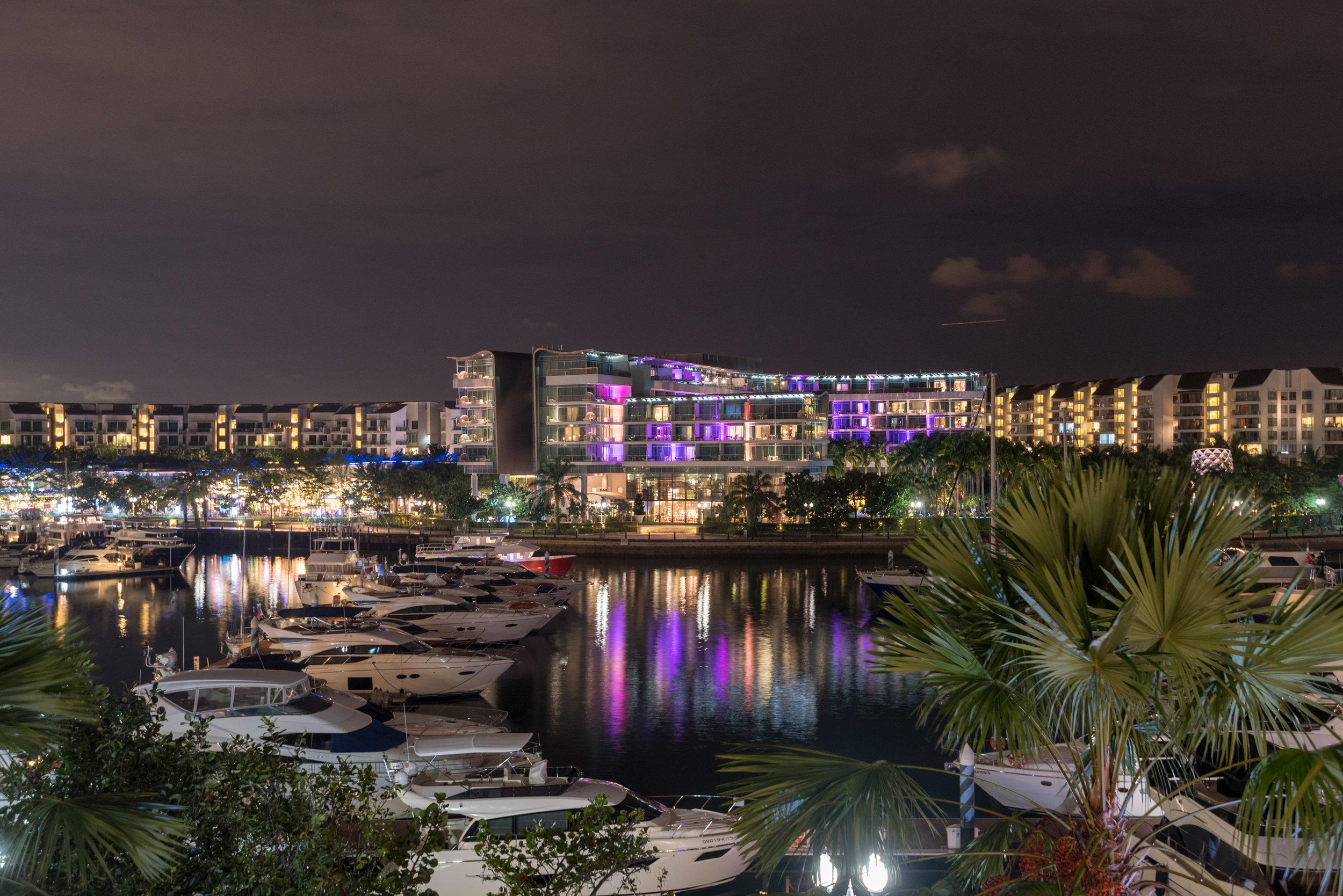 Night View from Balcony  Marina View Room - ONE°15 Marina Club