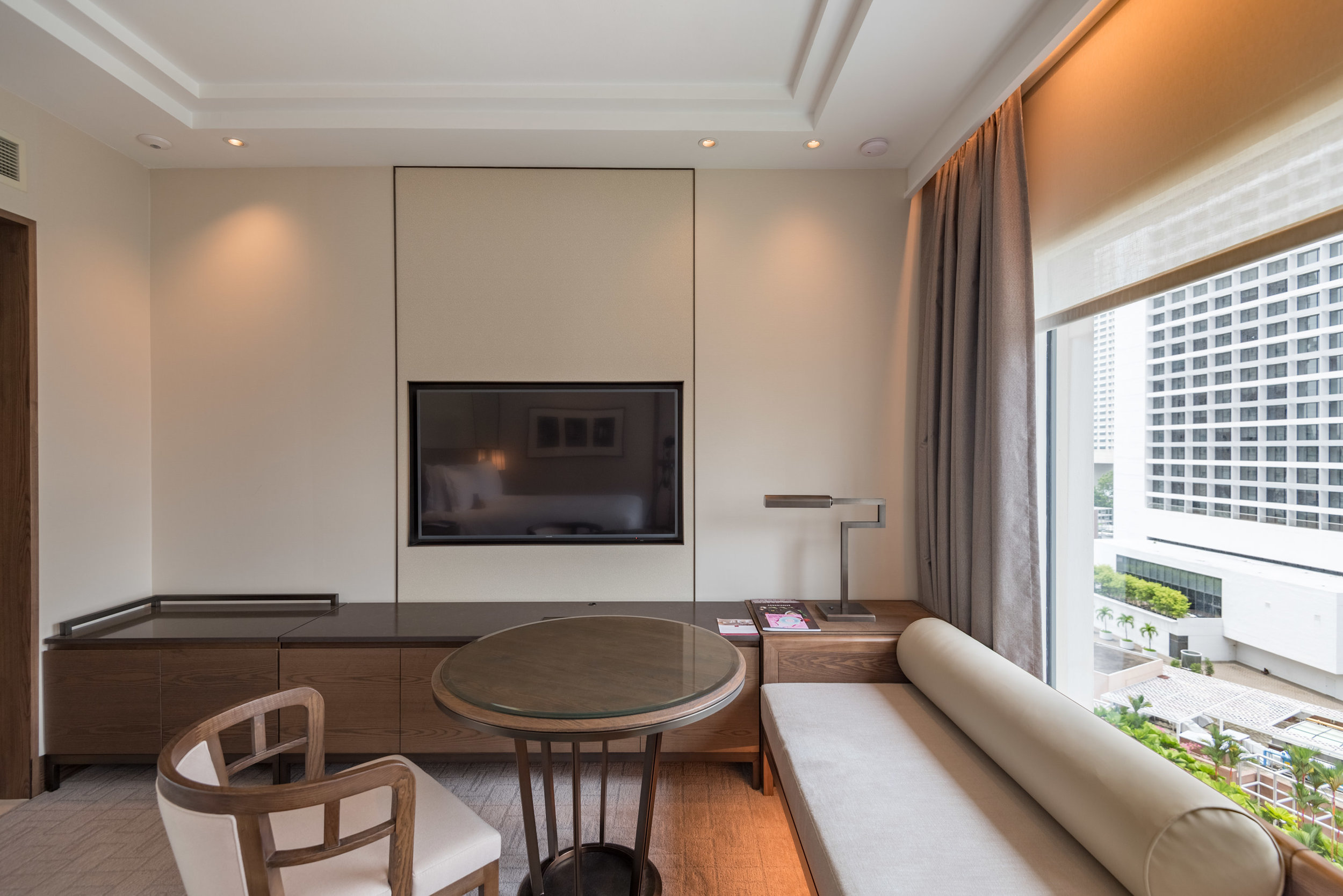 Work Desk and TV  Deluxe Room (Refurbished) - Conrad Centennial Singapore