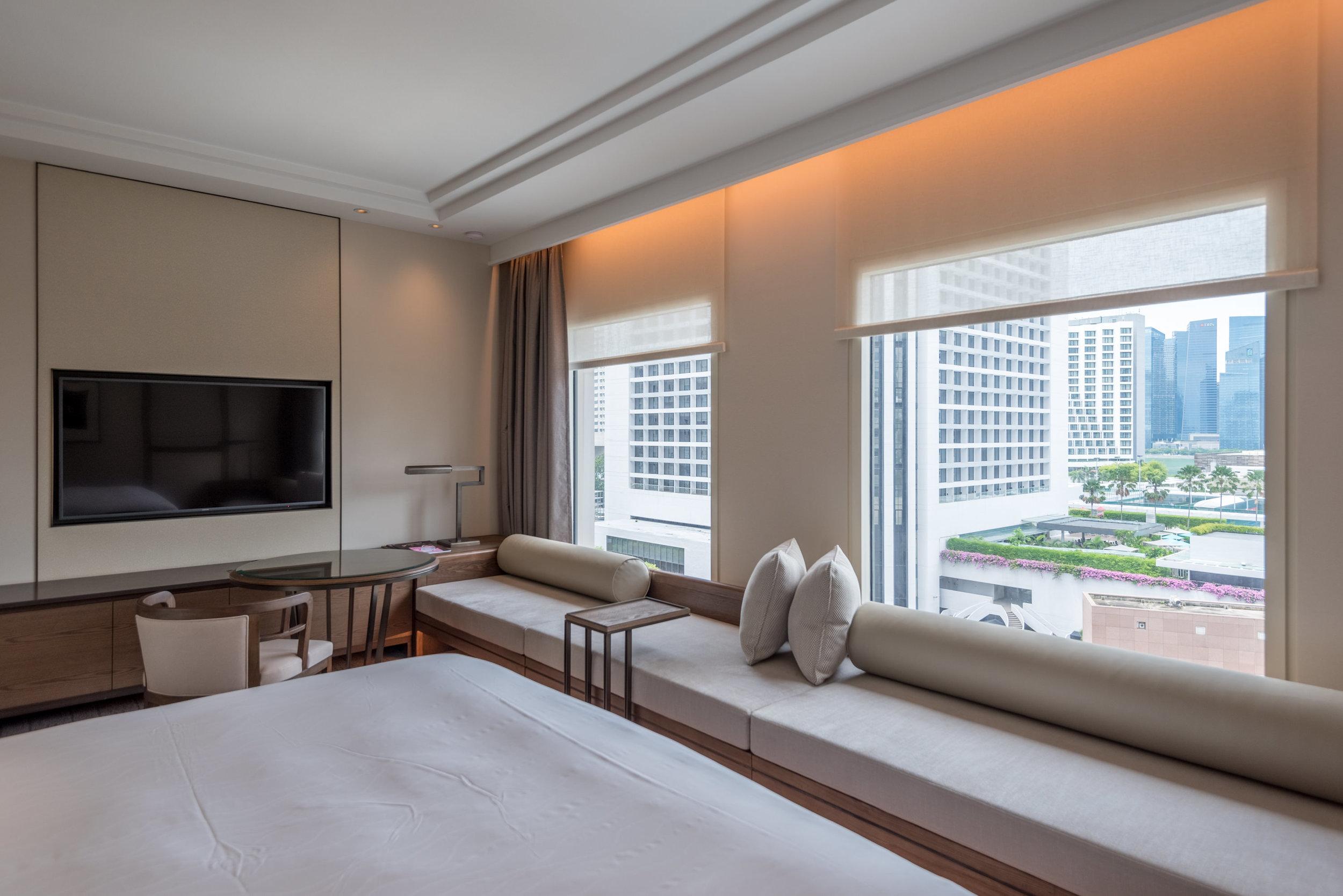 Bay Window Sofa  Deluxe Room (Refurbished) - Conrad Centennial Singapore