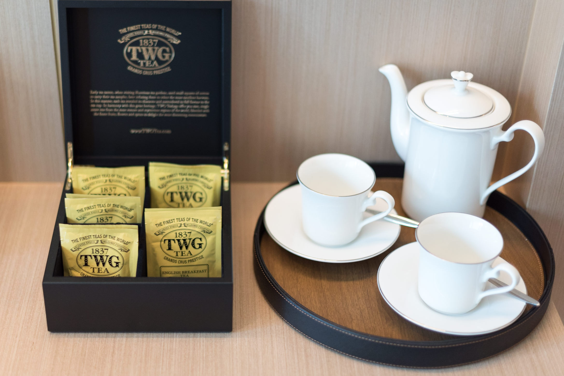 TWG Teabags and Nespresso Coffee  Luxury Room - Sofitel Singapore City Centre