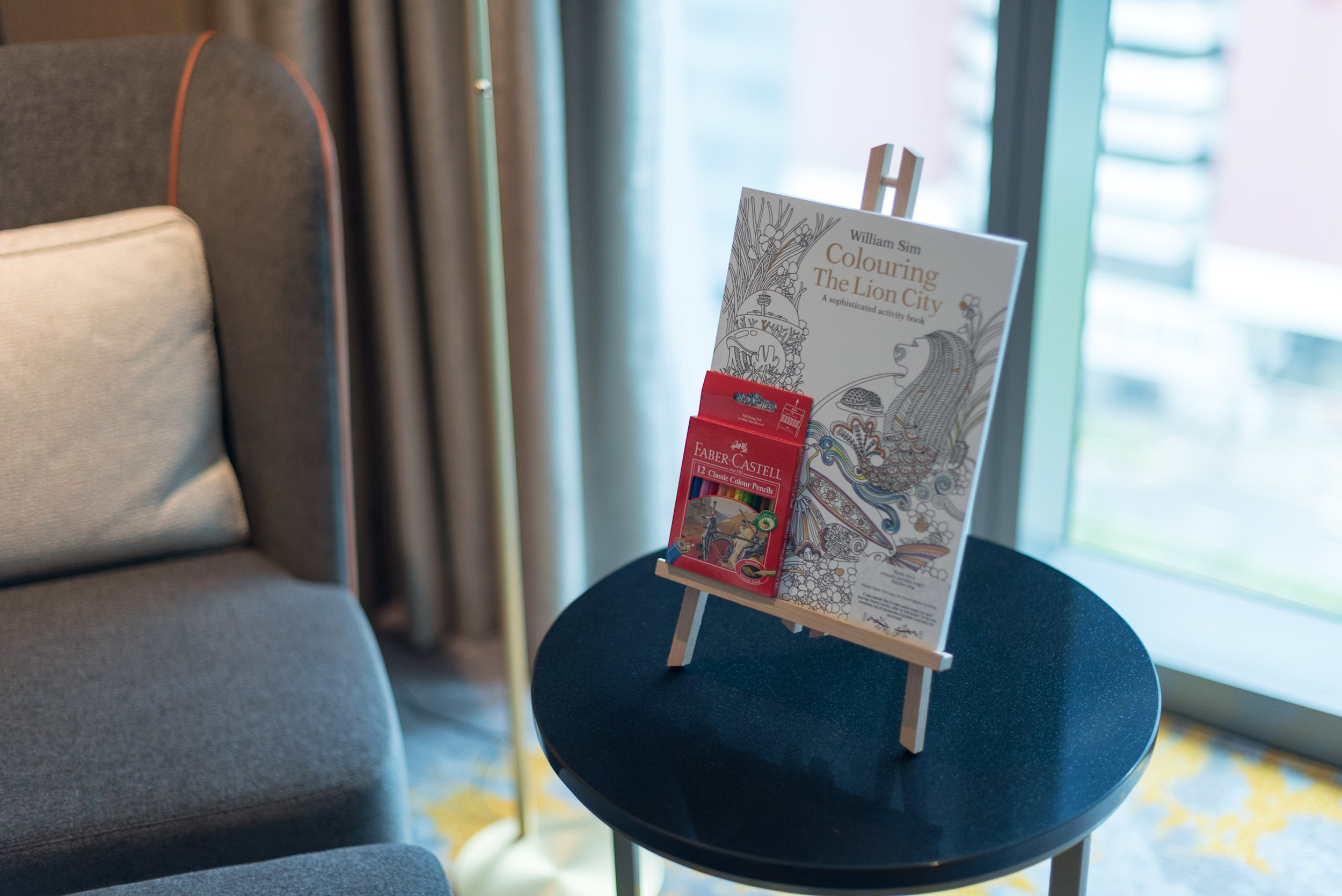 Adult Colouring Book  Luxury Room - Sofitel Singapore City Centre