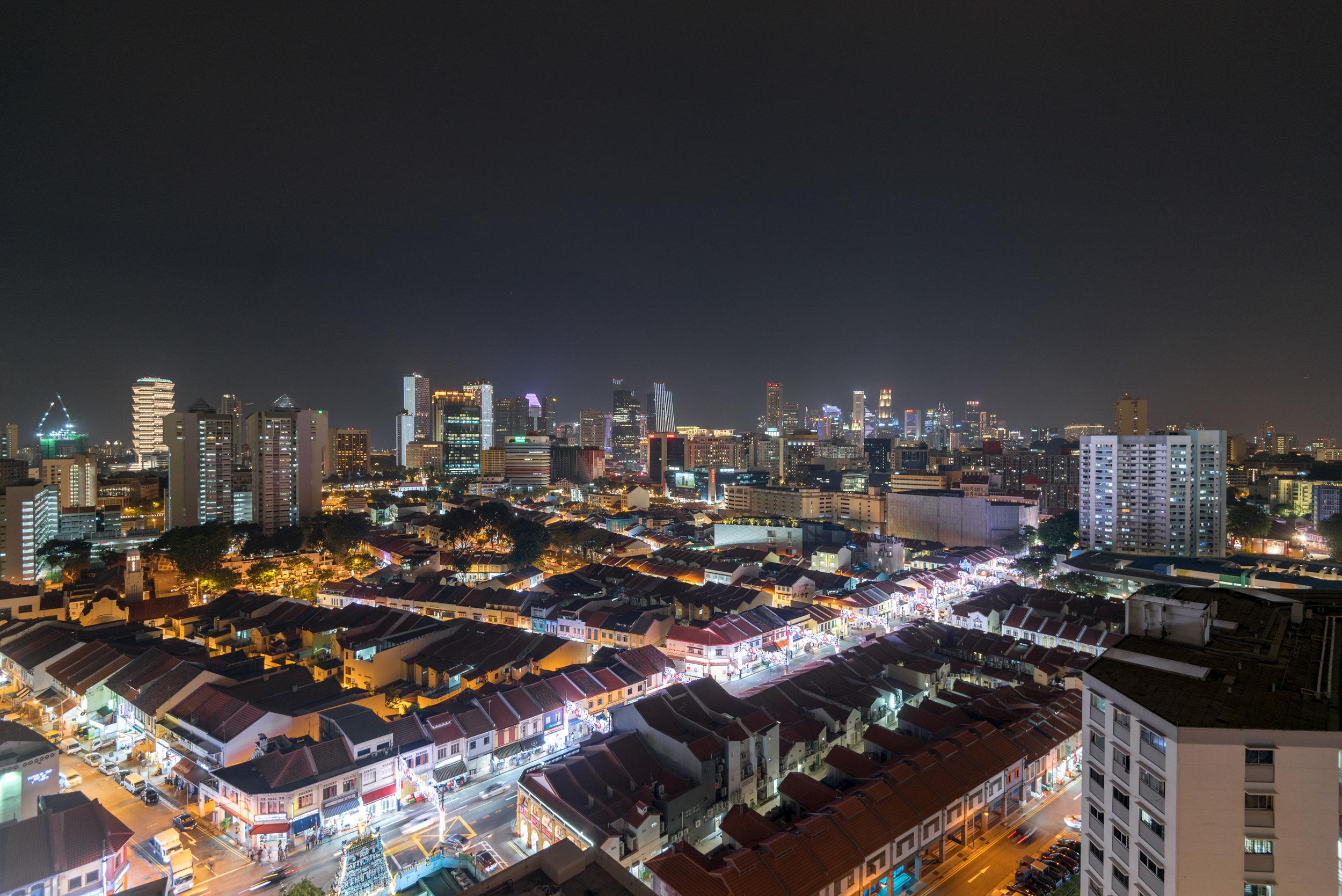 Night View from Balcony  King Deluxe Room with Balcony - Hilton Garden Inn Singapore Serangoon