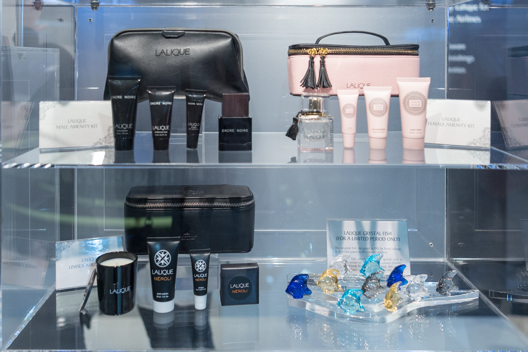 New Lalique Amenity Kits  New Suites (2017) Product on Singapore Airlines' A380