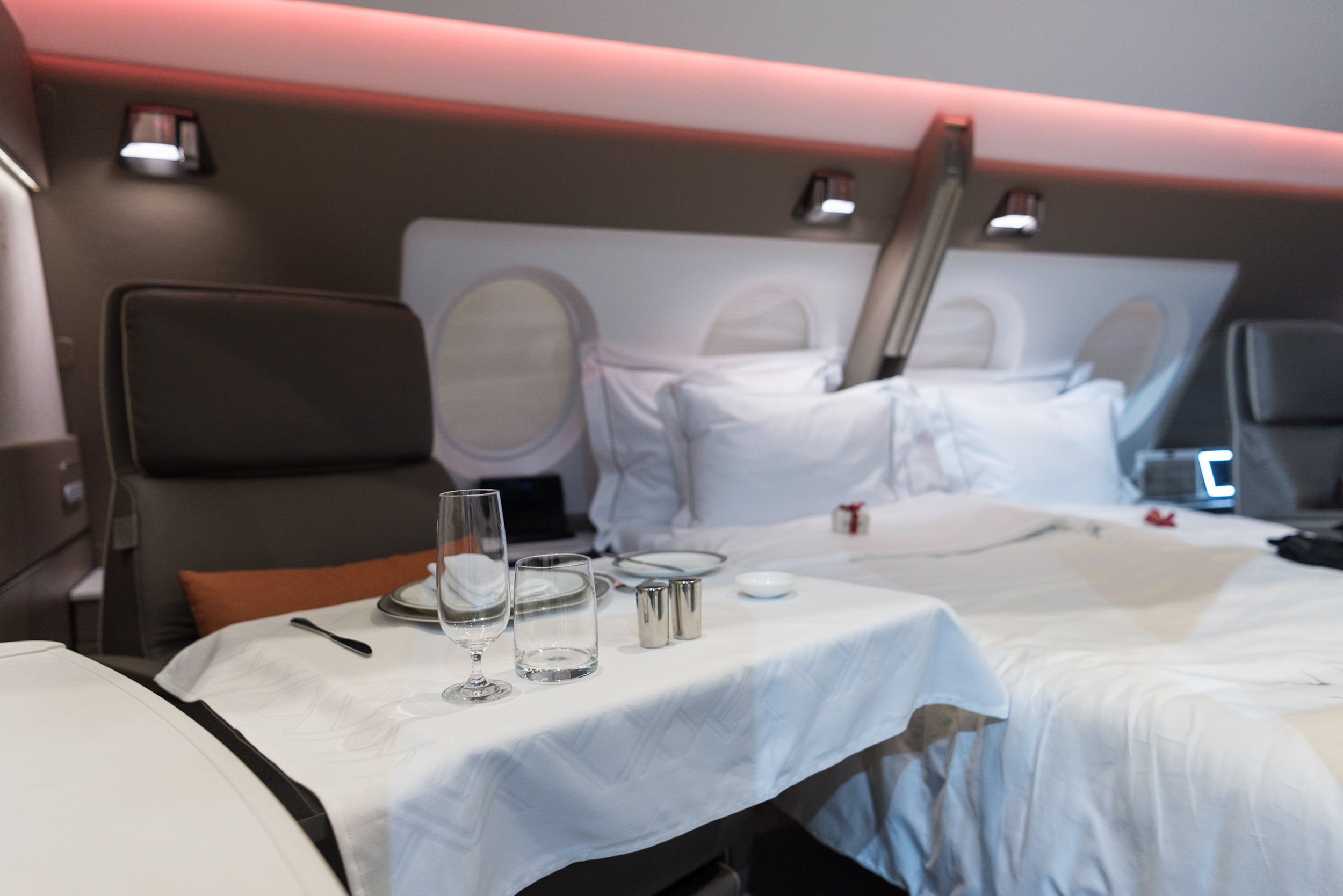 Dining Area  New Suites (2017) Product on Singapore Airlines' A380