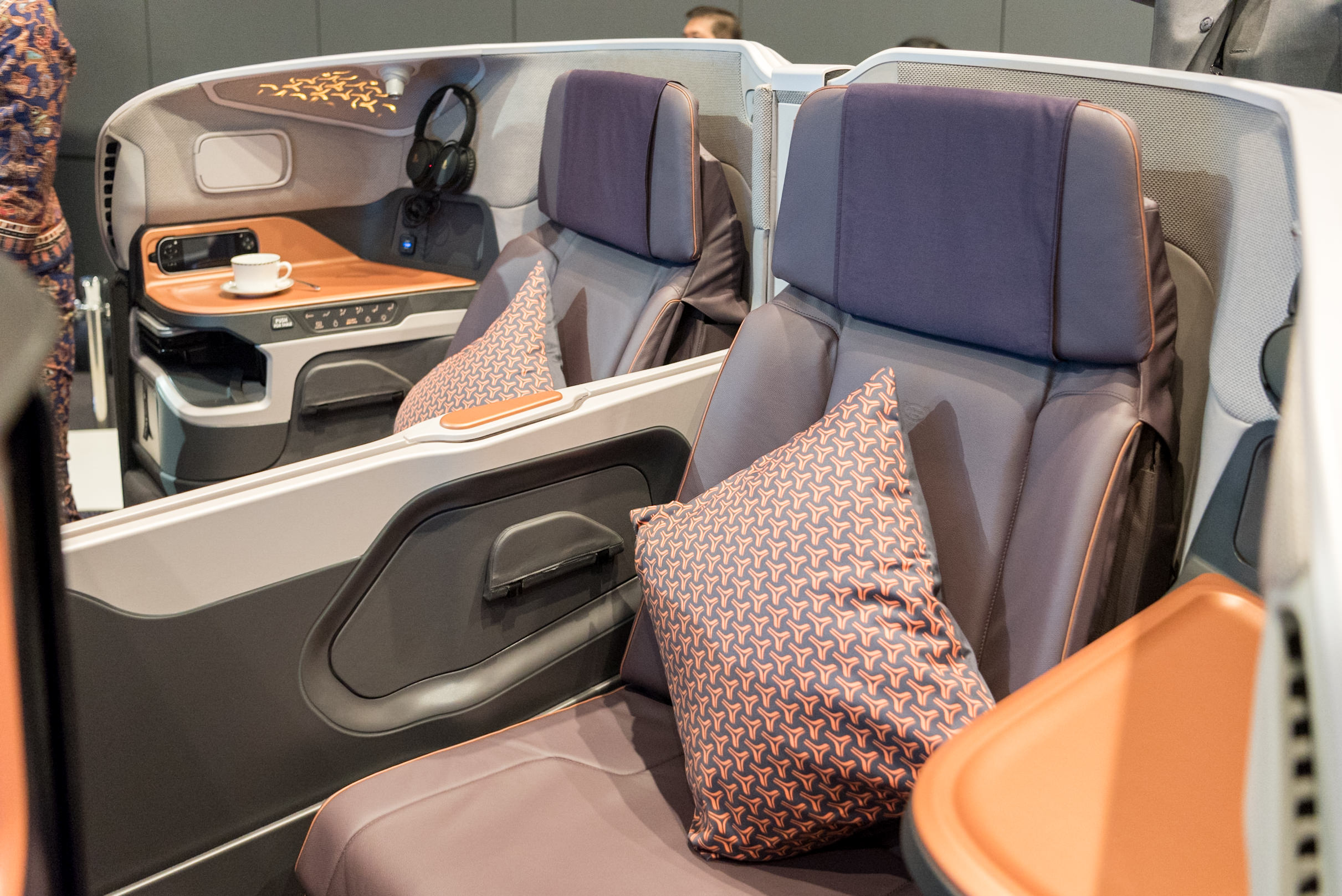 Adjustable Divider  New Business Class (2017) Product on Singapore Airlines' A380