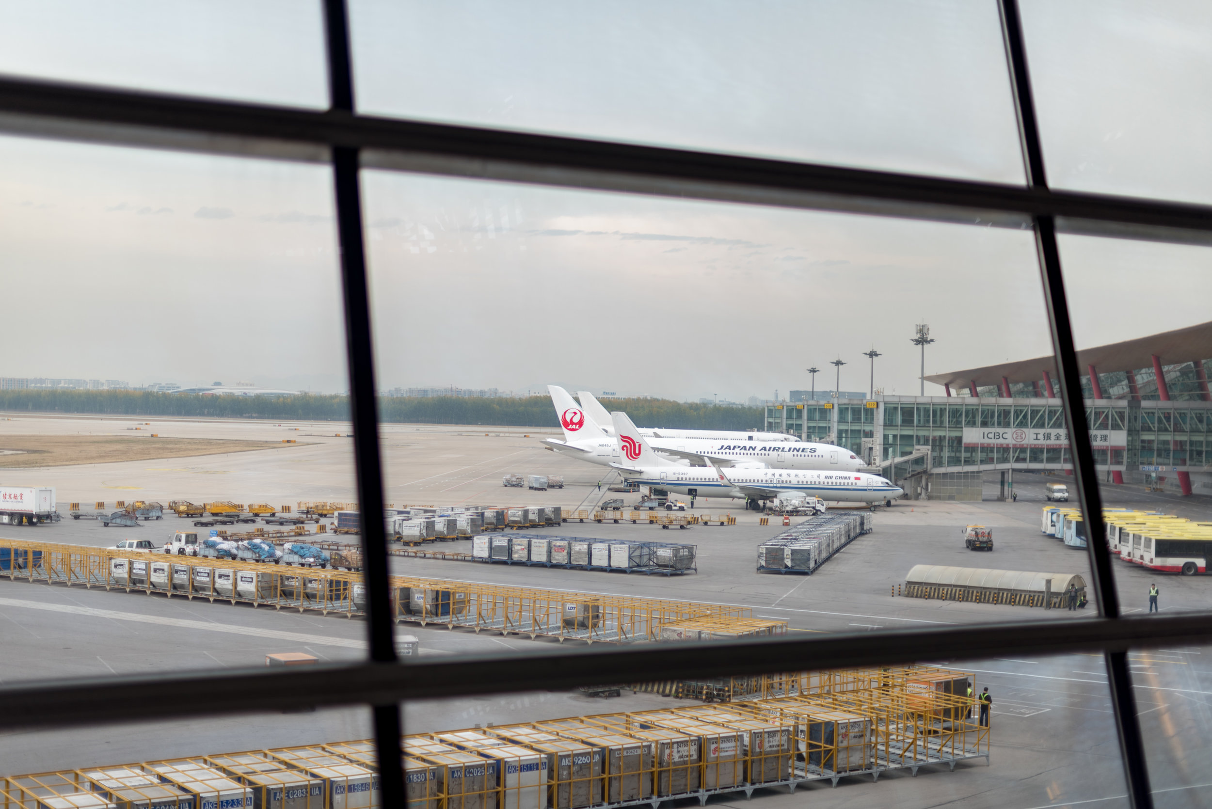 View from the Lounge  Air China First Class Lounge - Beijing Capital International Airport (PEK)