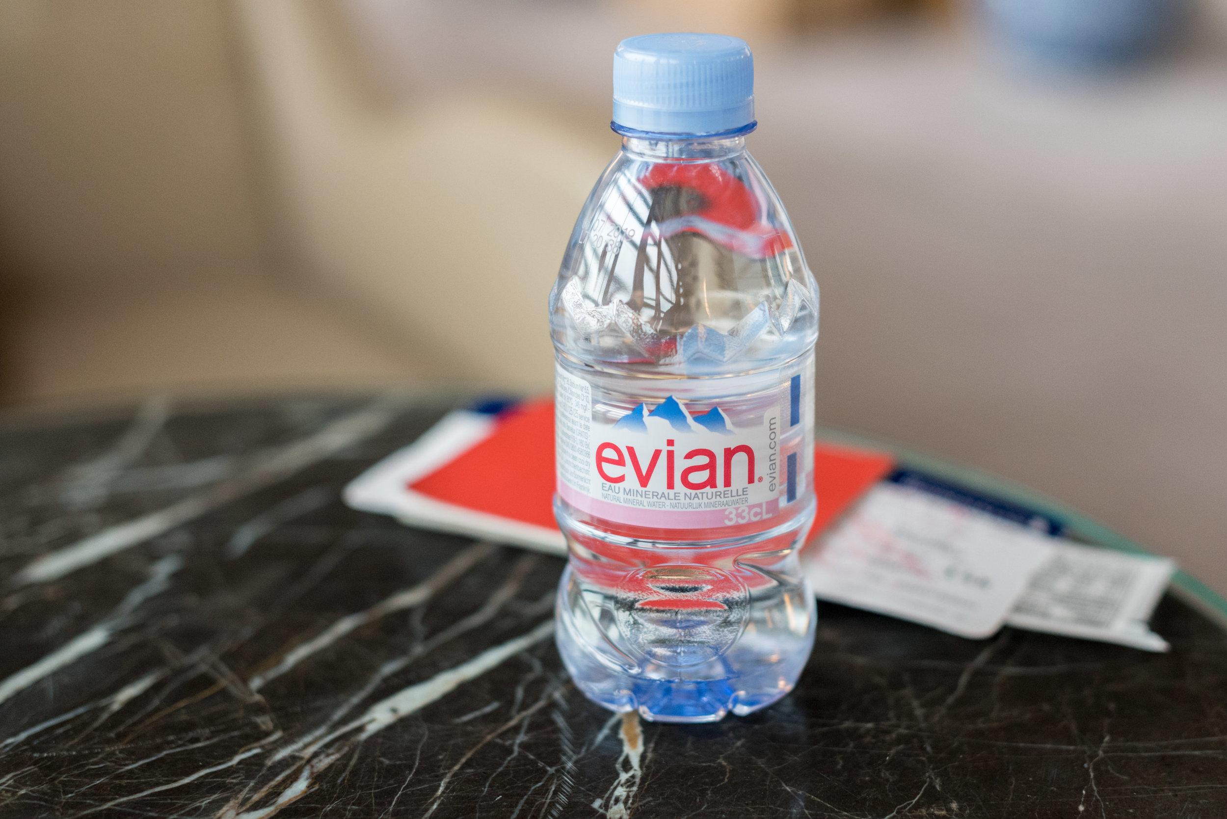 Evian Bottled Water  Air China First Class Lounge - Beijing Capital International Airport (PEK)