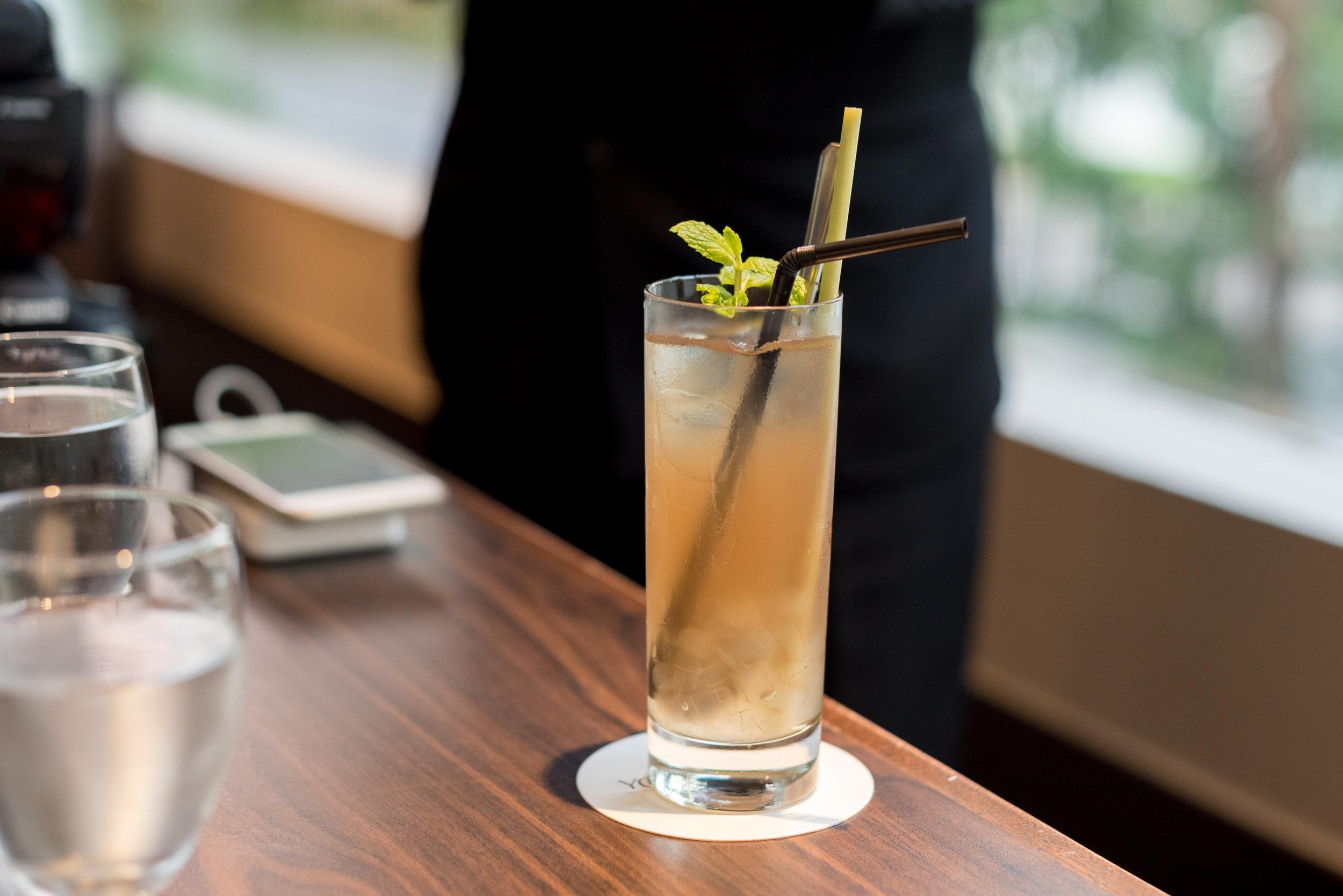 Chilled Lemongrass Drink with Aloe Vera  White Rose Café - York Hotel Singapore