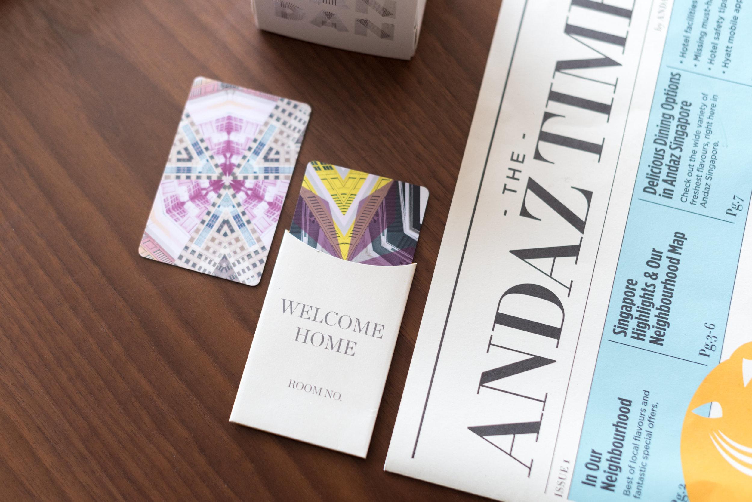 Key Cards  Andaz Suite King- Andaz Singapore