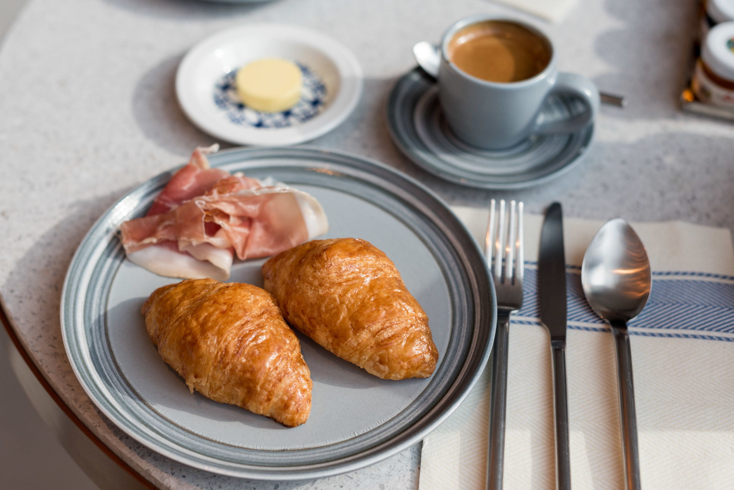 Croissants and Cold Cuts - Breakfast  Icehaus - Andaz Singapore