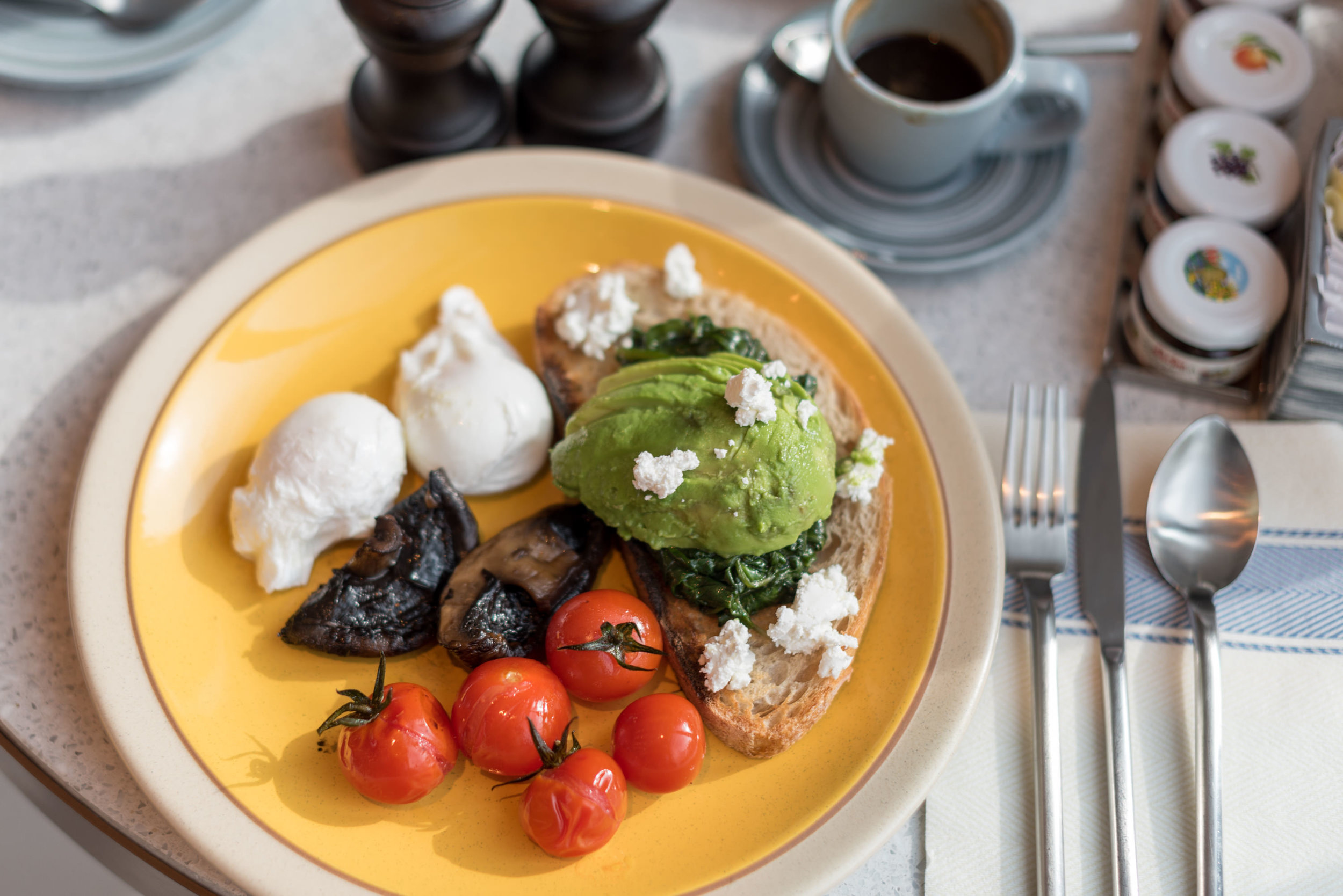 Roast Portobello Mushrooms- Breakfast  Icehaus - Andaz Singapore