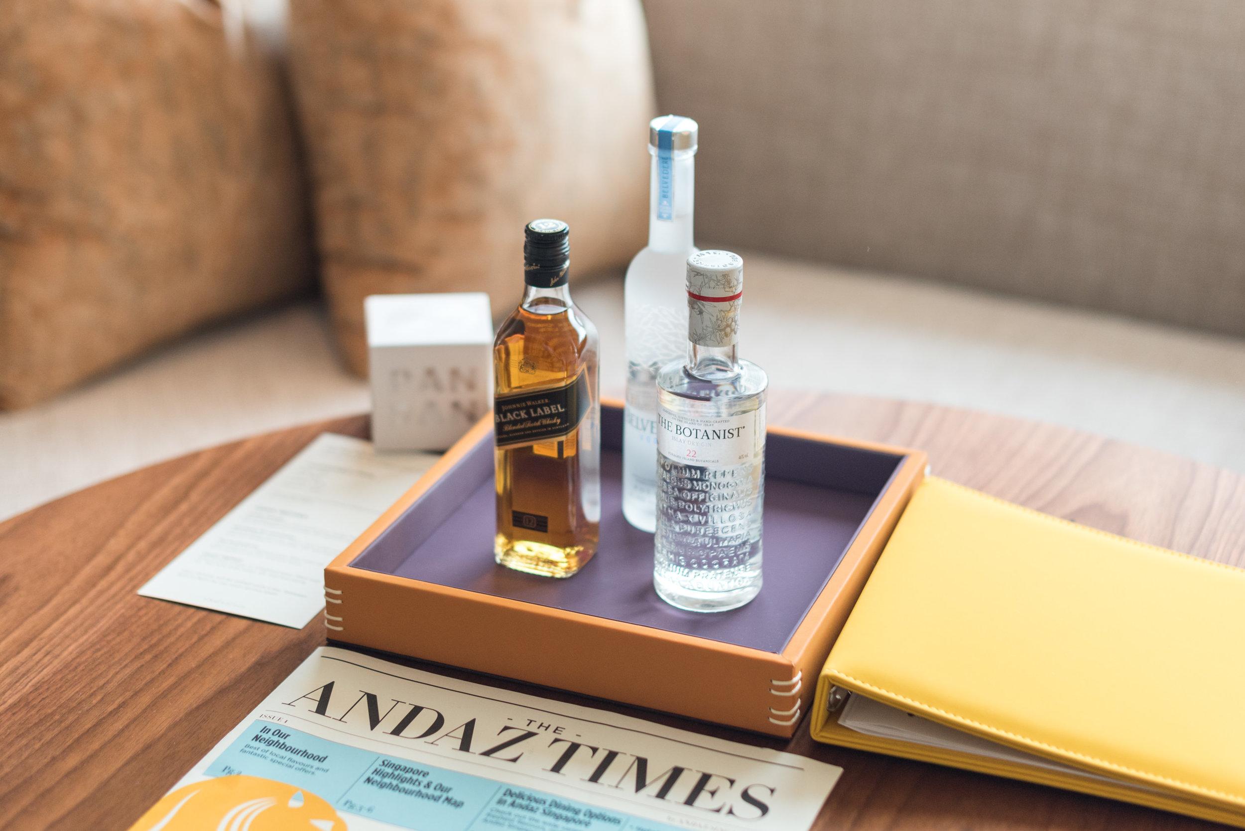 Alcohol (Minibar)   Andaz Suite King - Andaz Singapore