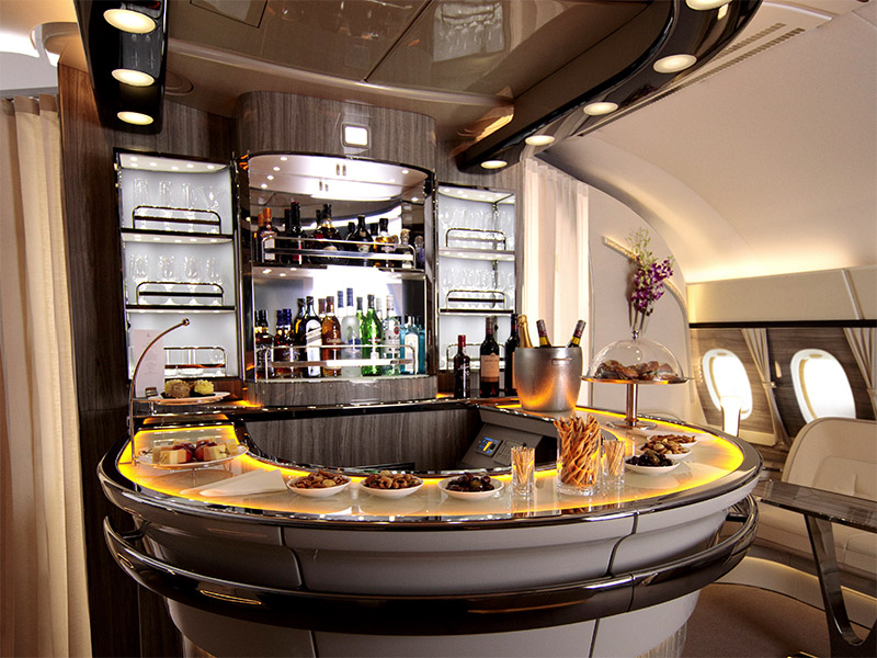 Onboard Lounge | Photo Credit: Emirates