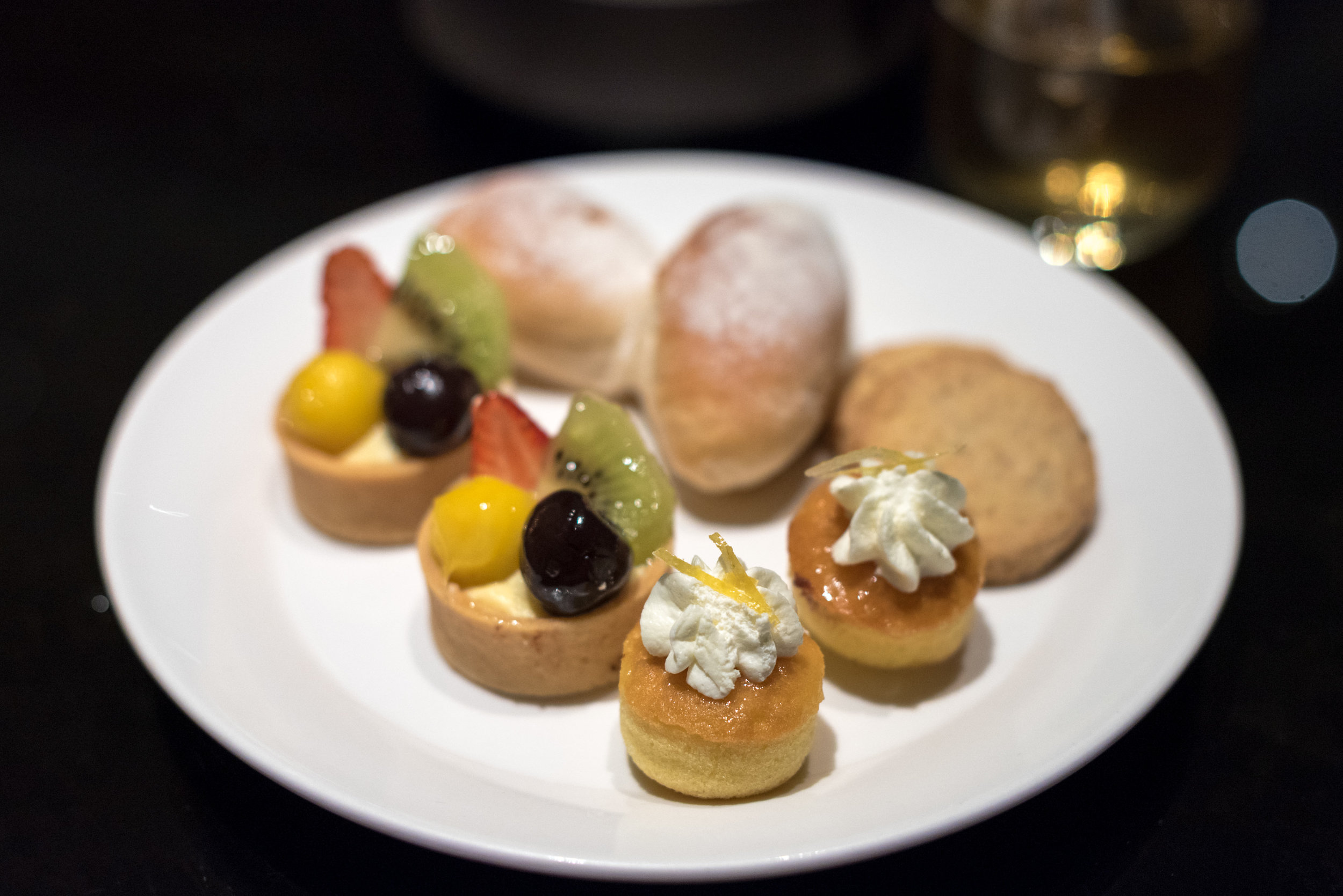 Desserts during Cocktail Hour  Executive Lounge - Conrad Beijing