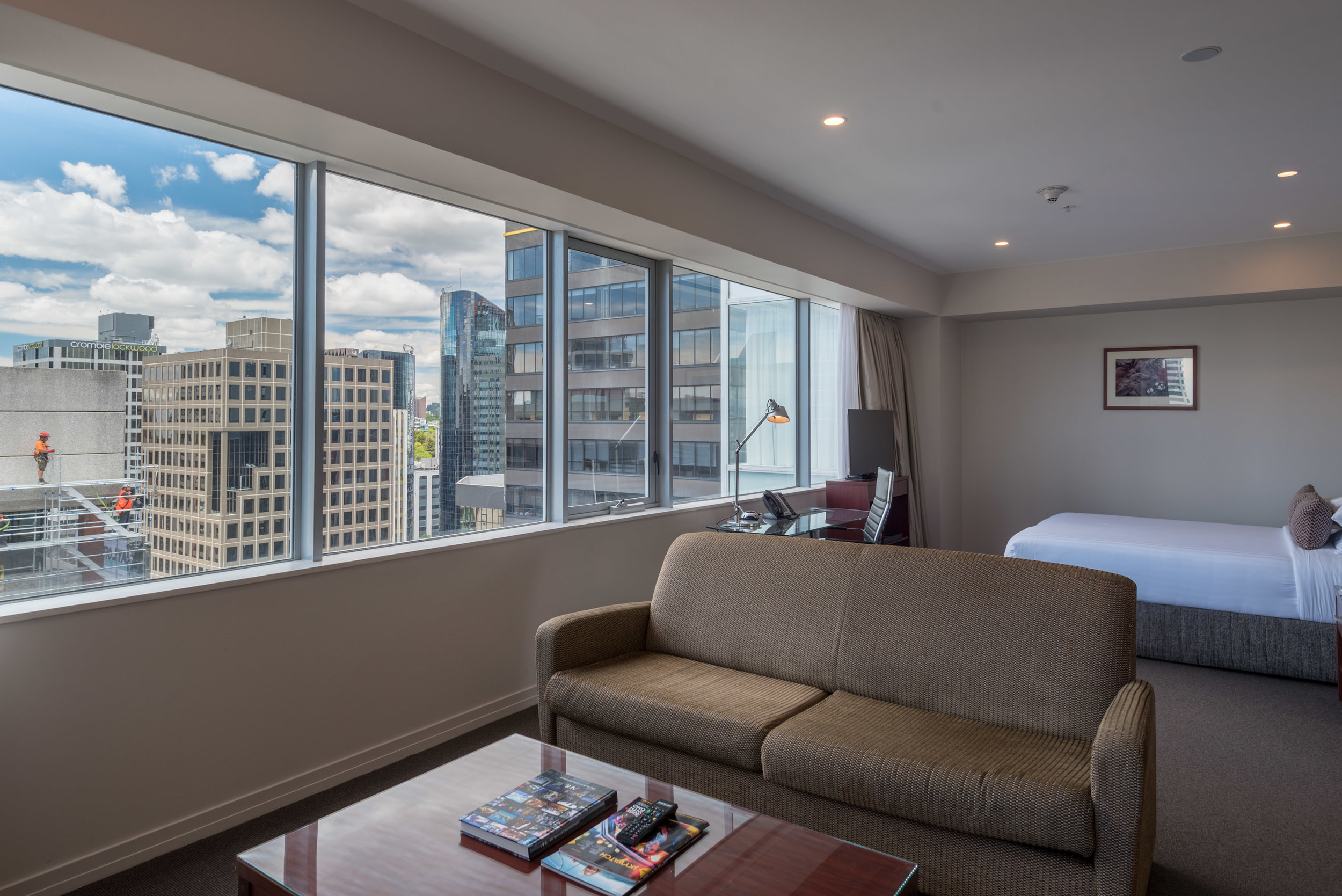 Living Room and Bedroom  King Residence Suite - Rydges Auckland