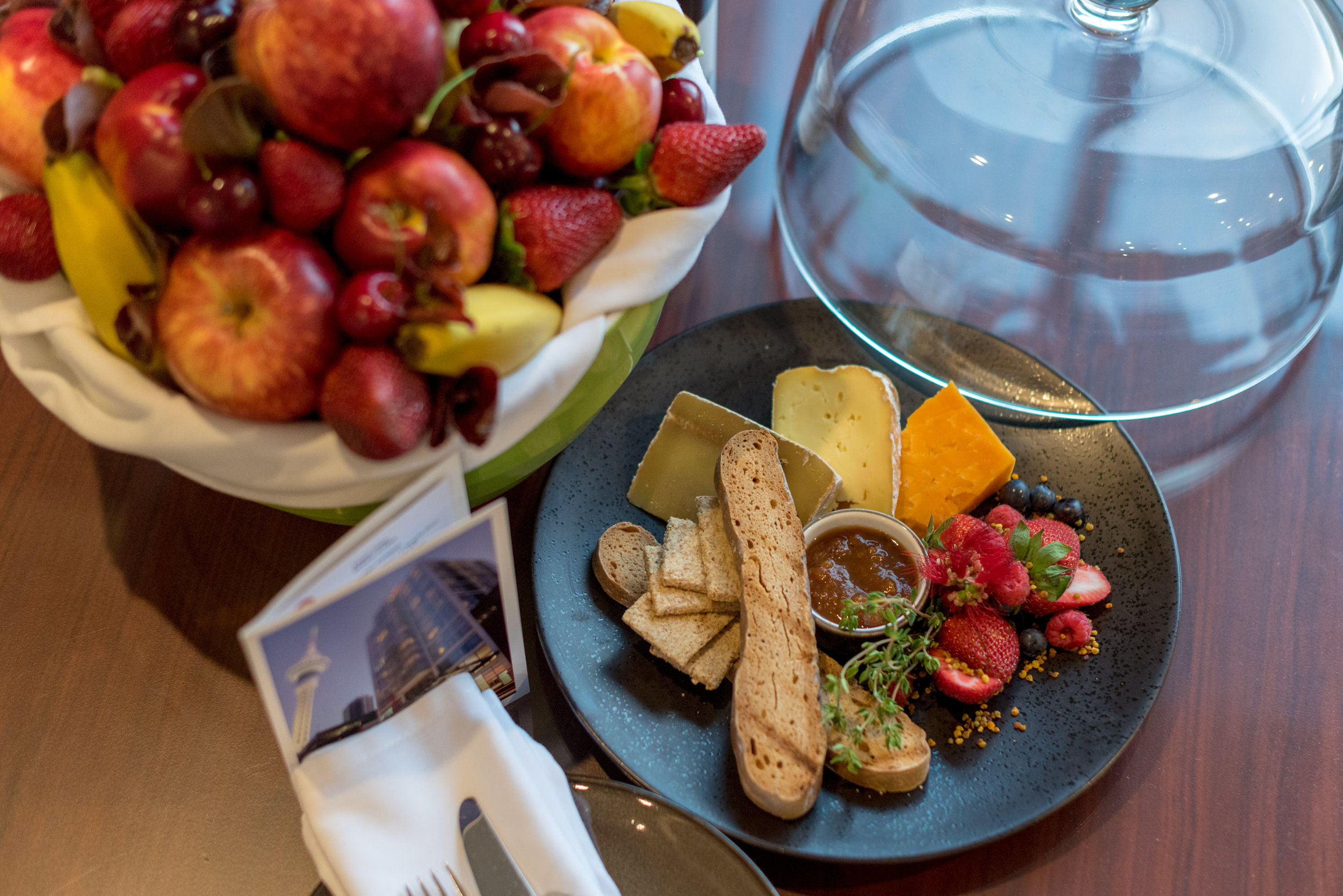 Welcome Amenity - Fruit Basket and Cheese Platter  King Residence Suite - Rydges Auckland