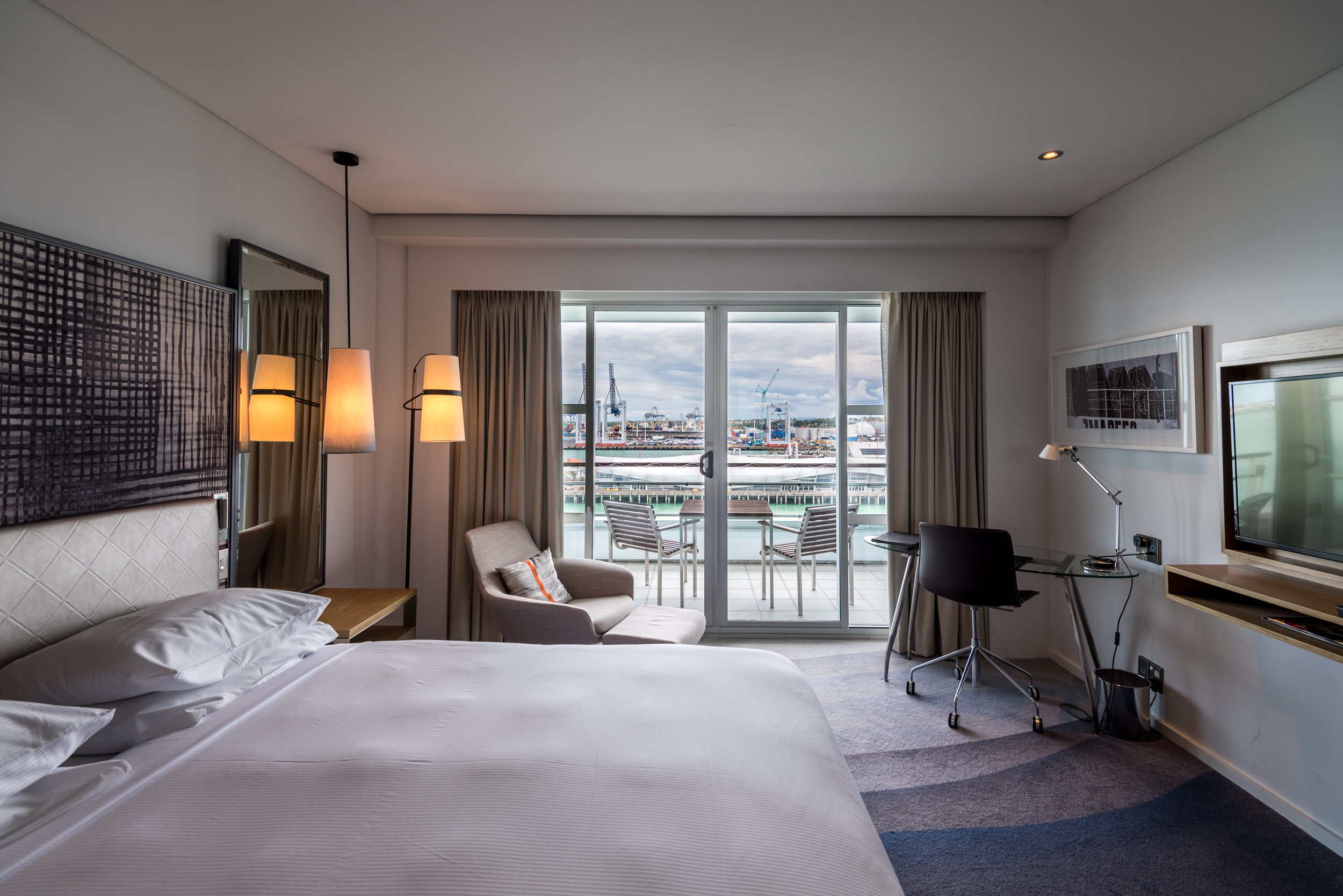 Private Balcony  Deluxe Harbour View Room - Hilton Auckland