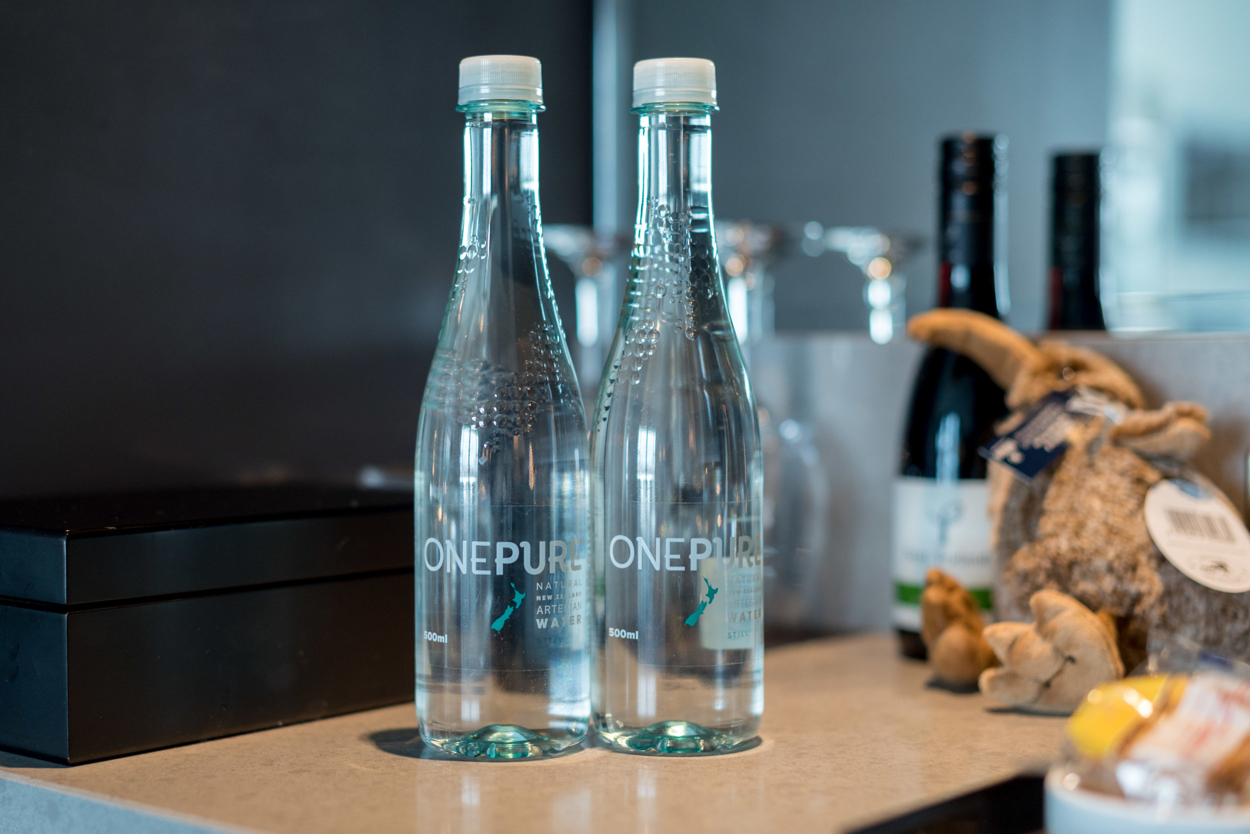 Complimentary Water  Deluxe Harbour View Room - Hilton Auckland