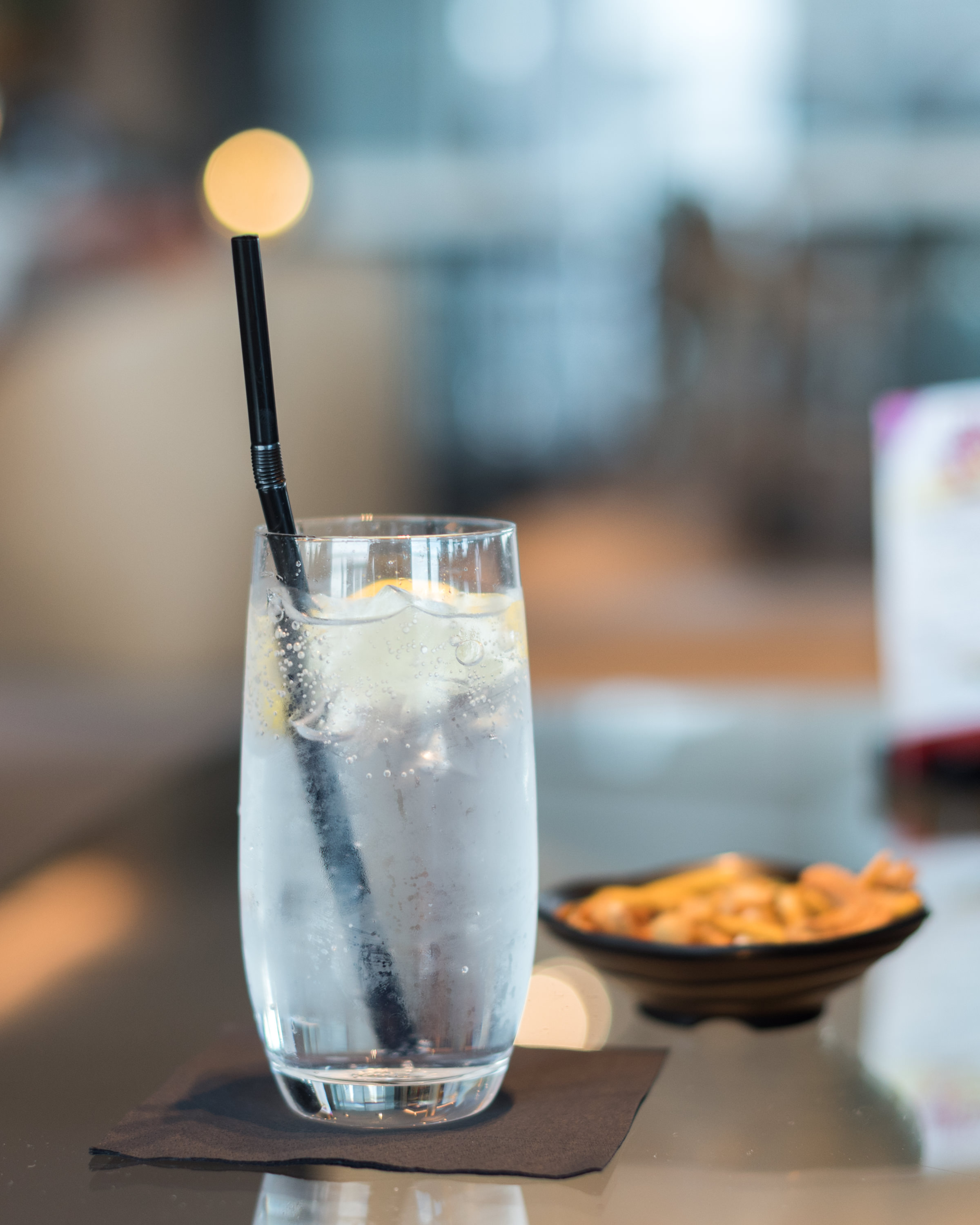 Gin and Tonic  Bellini Bar -Hilton Auckland