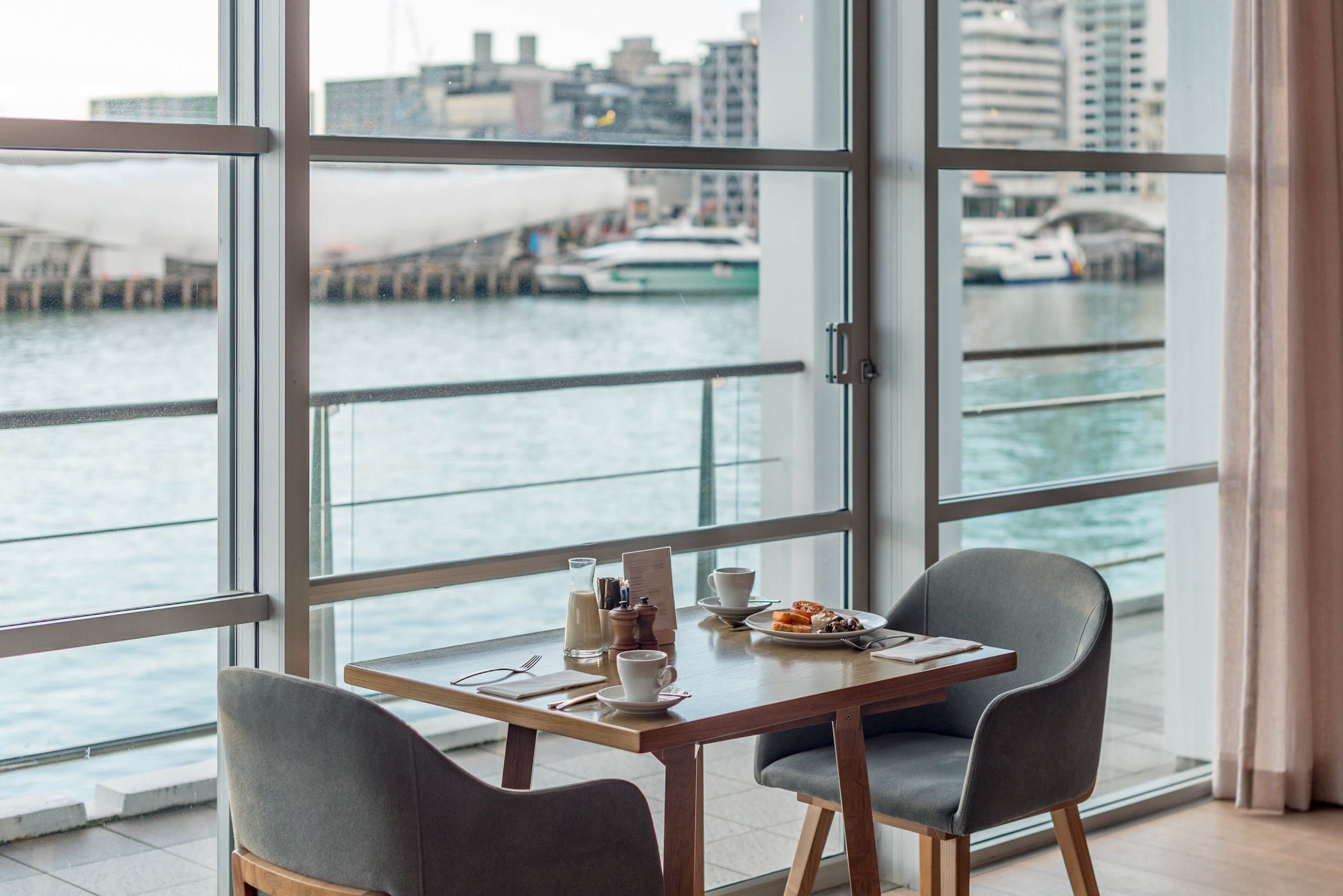 Breakfast with a View  FISH Restaurant -Hilton Auckland