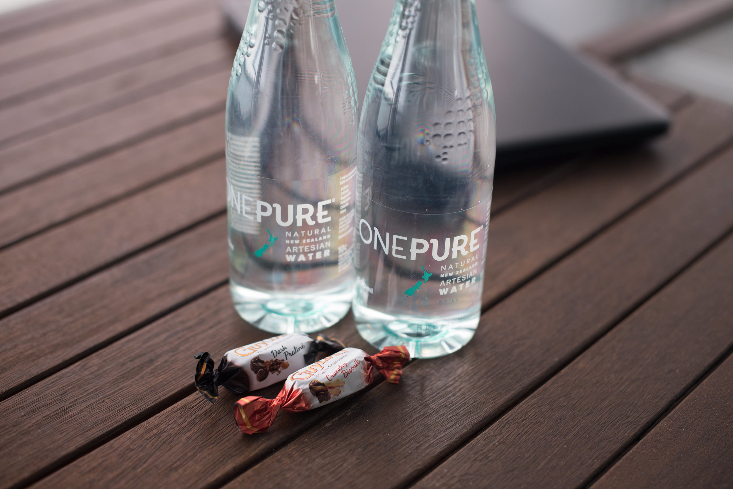 Chocolate Pralines and Water  Deluxe Harbour View Room - Hilton Auckland