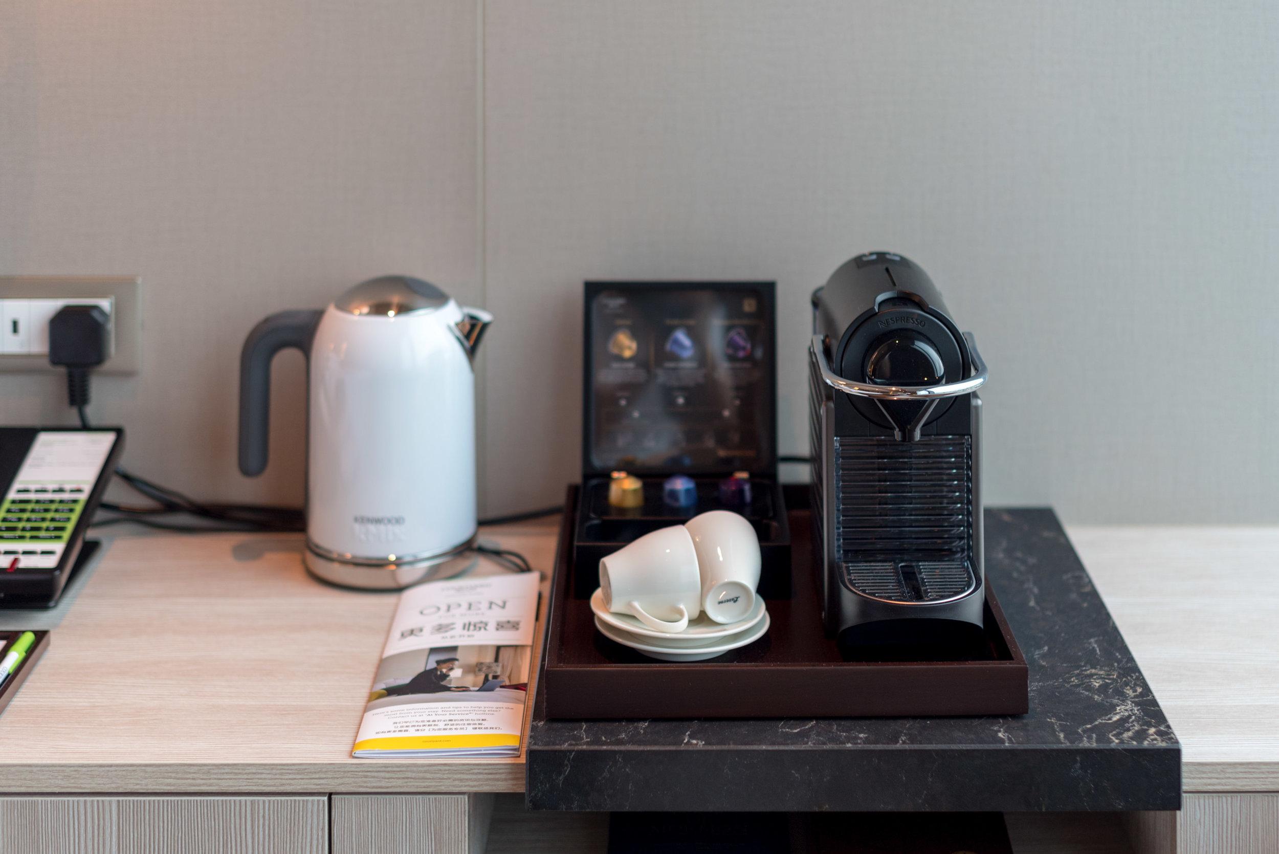 Nespresso Coffee Machine  Premier Skyline Room - Courtyard by Marriott Singapore Novena