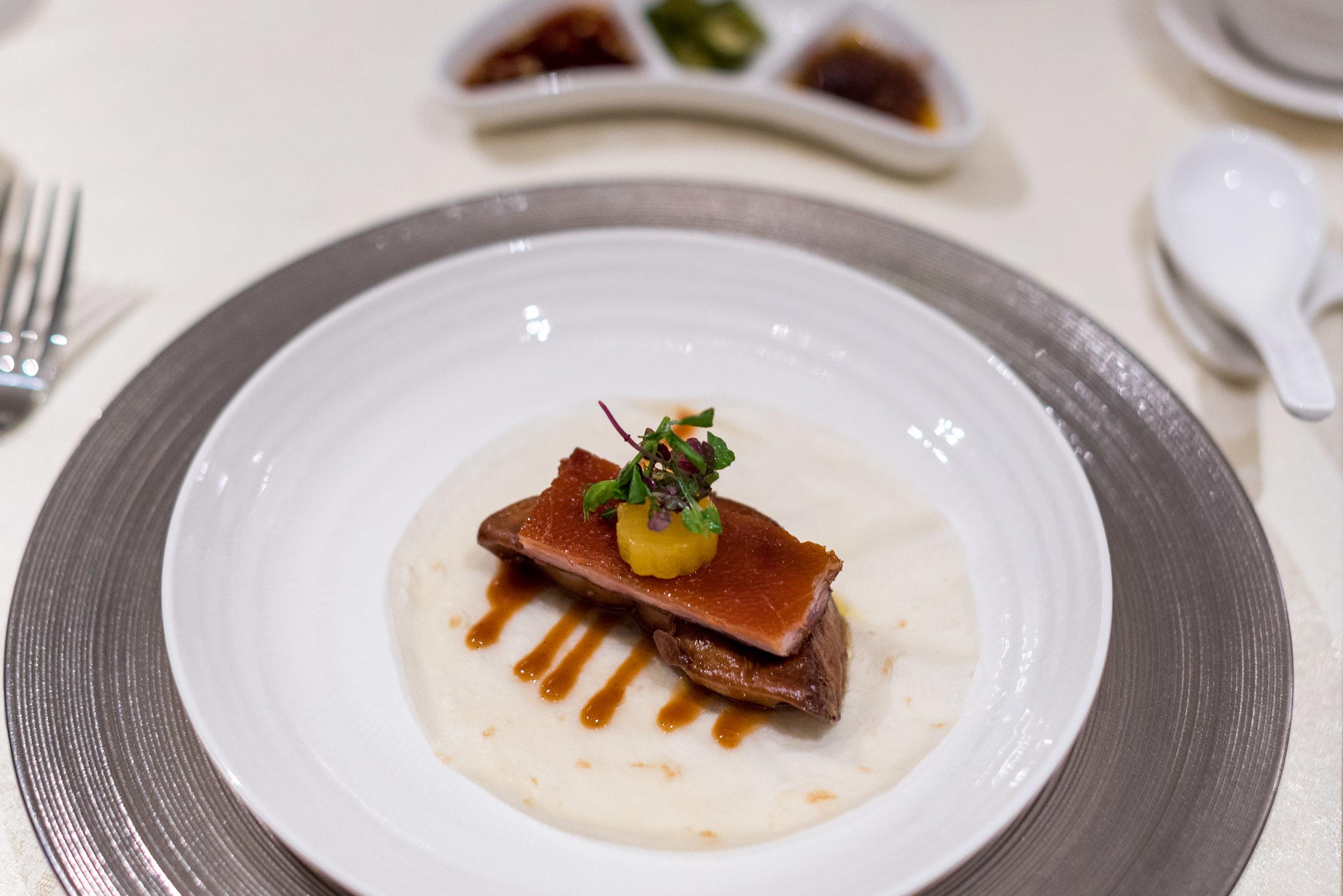 Roasted Suckling Pig, Foie Gras, Daikon, Crepe  Man Fu Yuan - InterContinental Singapore