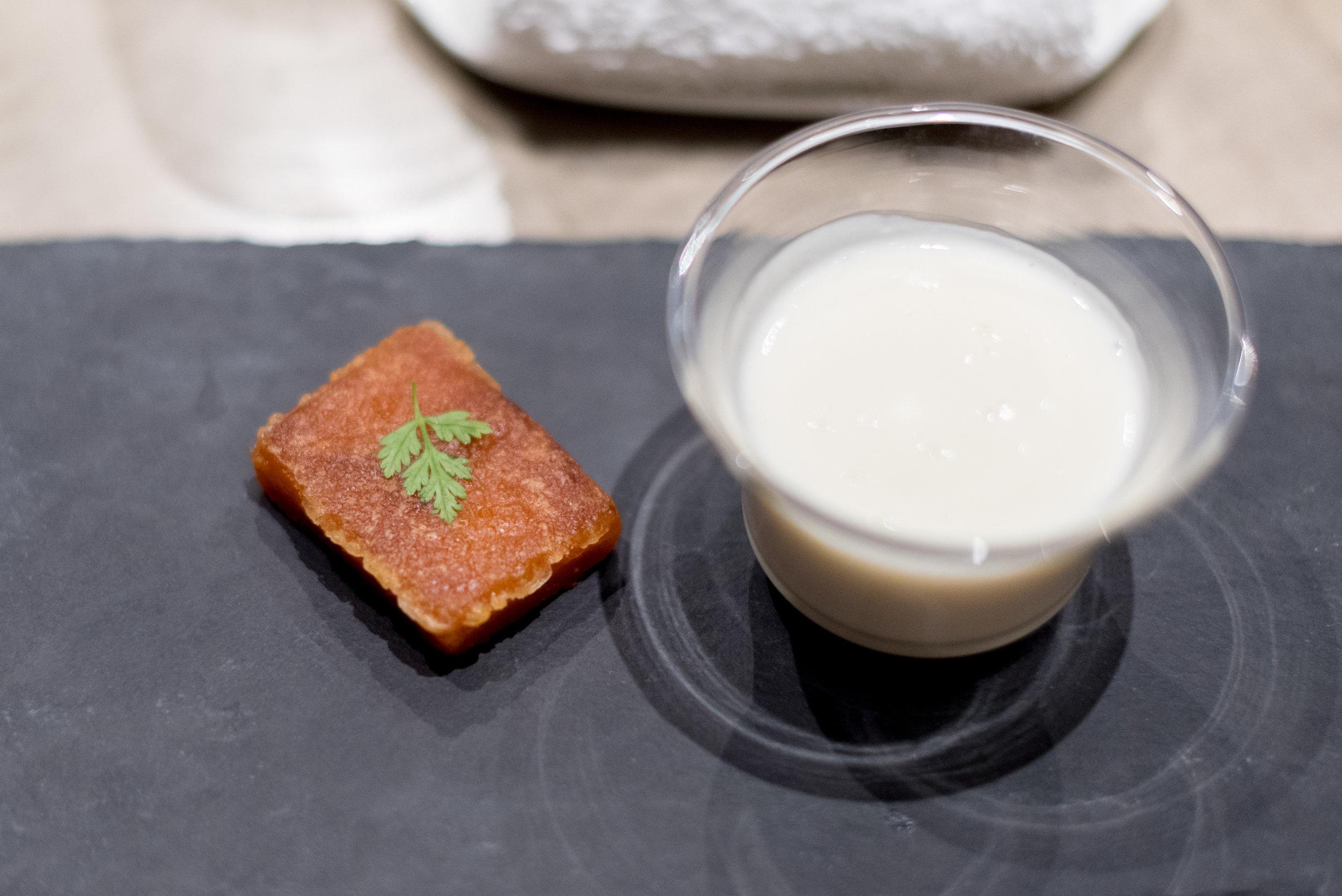 Coconut Nian Gao | Hot Almond Cream with Egg White  Jiang-Nan Chun - Four Seasons Hotel Singapore