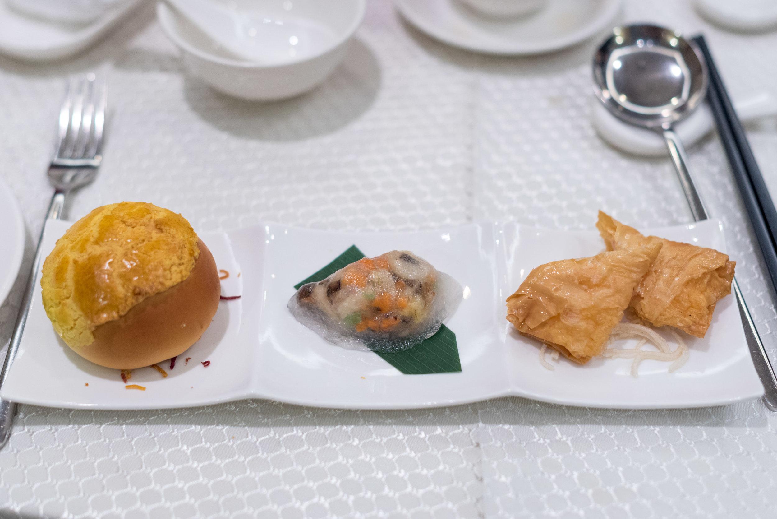 Trio of Dim Sum  Wah Lok Cantonese Restaurant - Carlton Hotel Singapore