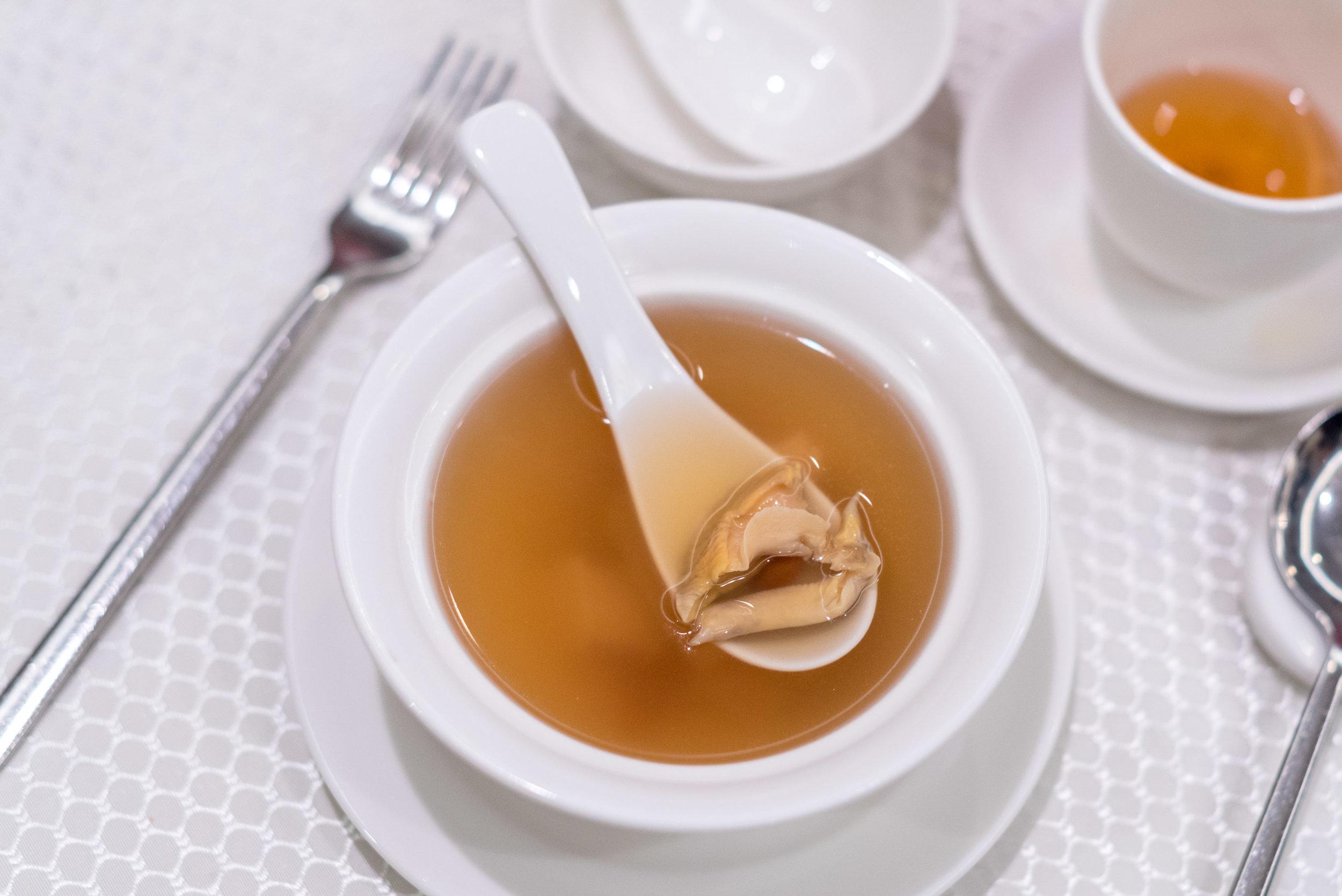 Double-boiled Sea Whelk & Chicken Soup  Wah Lok Cantonese Restaurant - Carlton Hotel Singapore