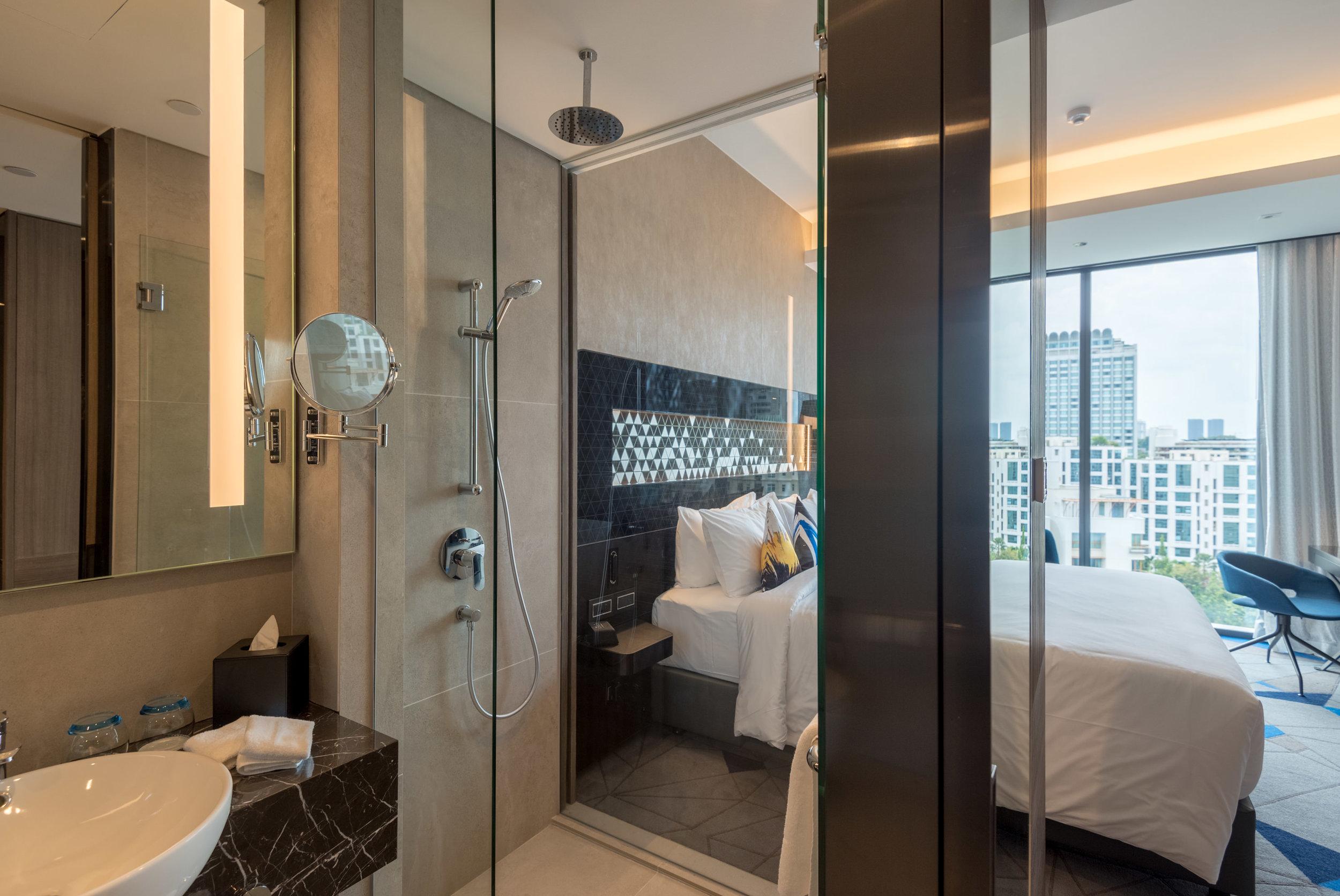 Bathroom  Premier Room - Novotel Singapore on Stevens