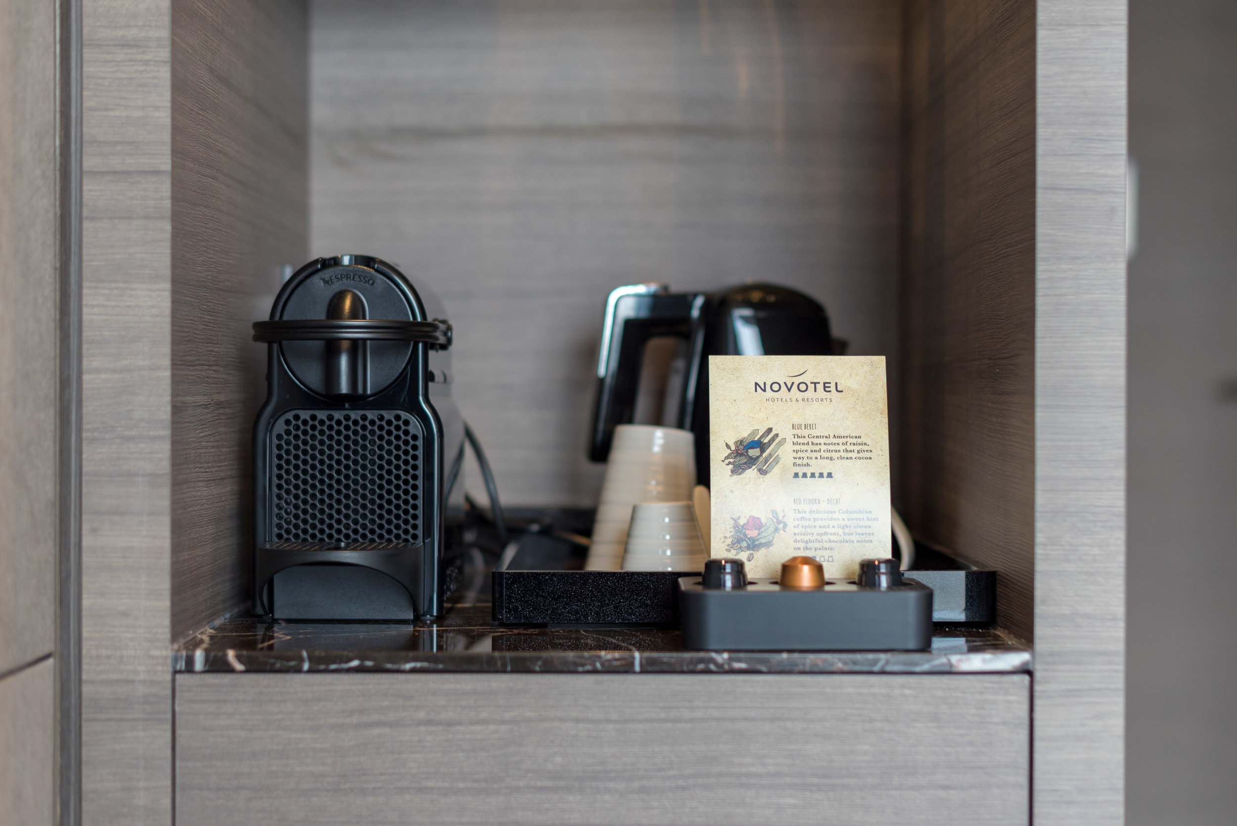 Nespresso Coffee Machine  Premier Room - Novotel Singapore on Stevens