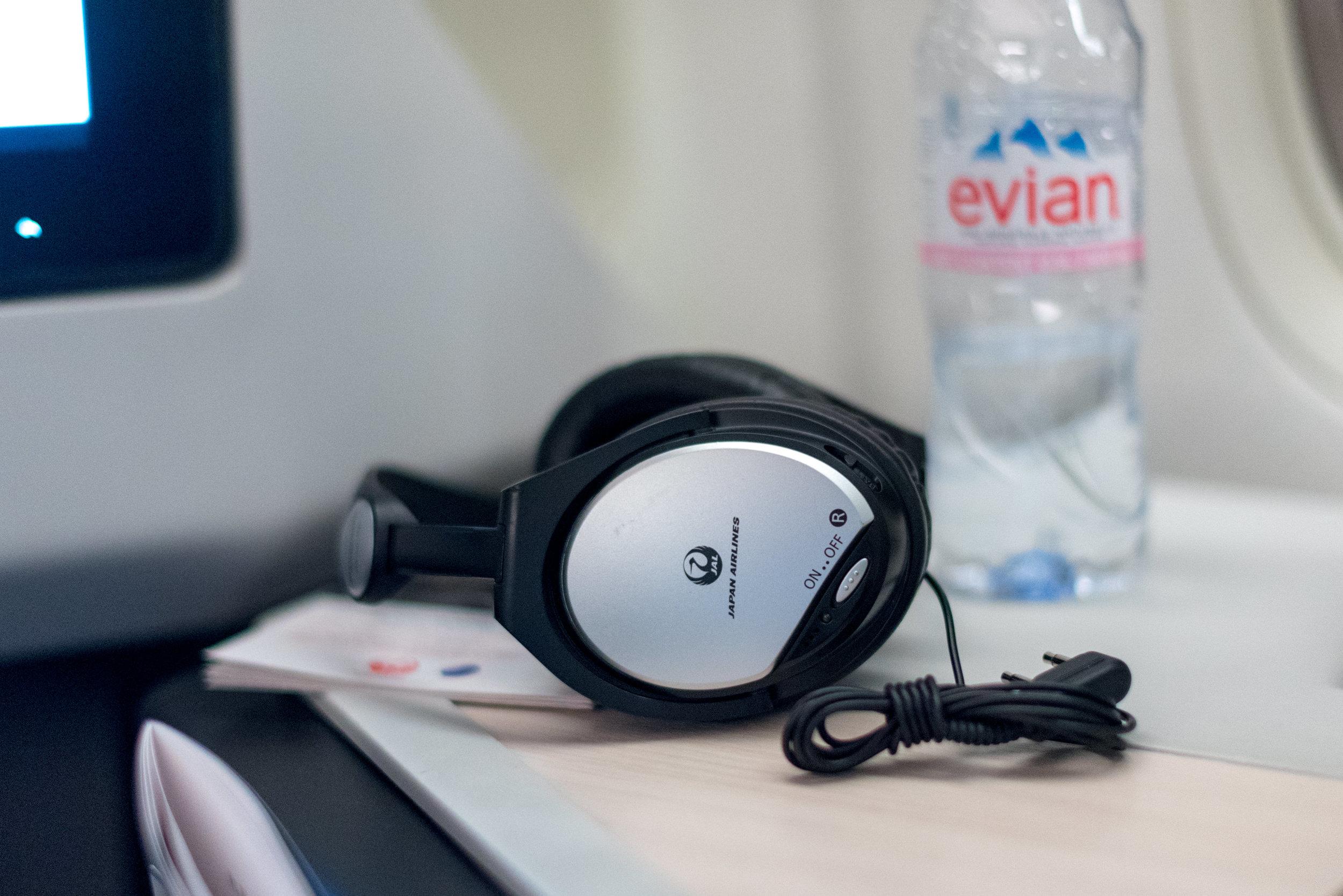 Panasonic Headphones  Japan Airlines Business Class JL36 777-200ER - SIN to HND