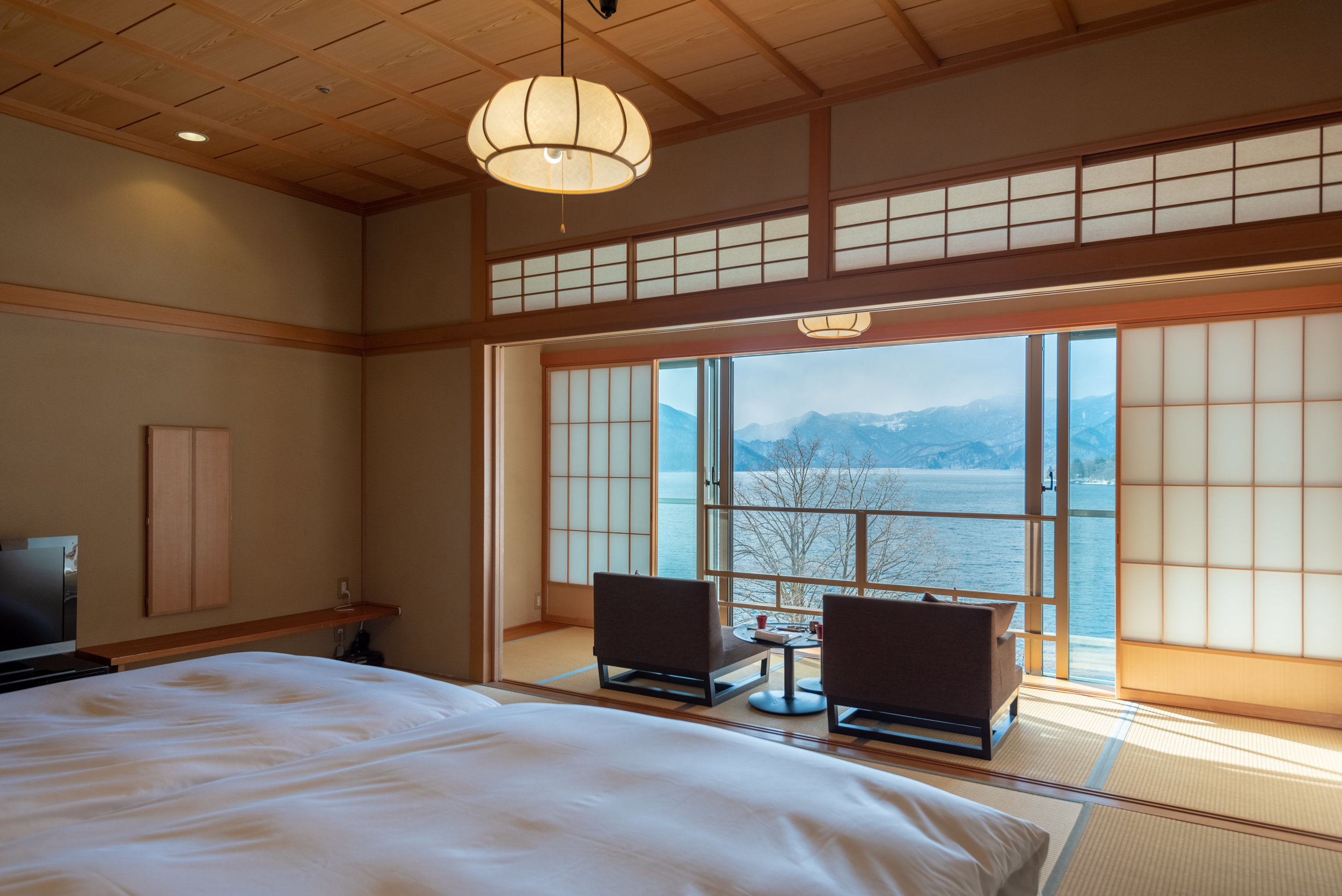 Unobstructed View of Lake Chuzenji  Japanese-style Room with Lake View GL2 - Hoshino Resorts KAI Nikko