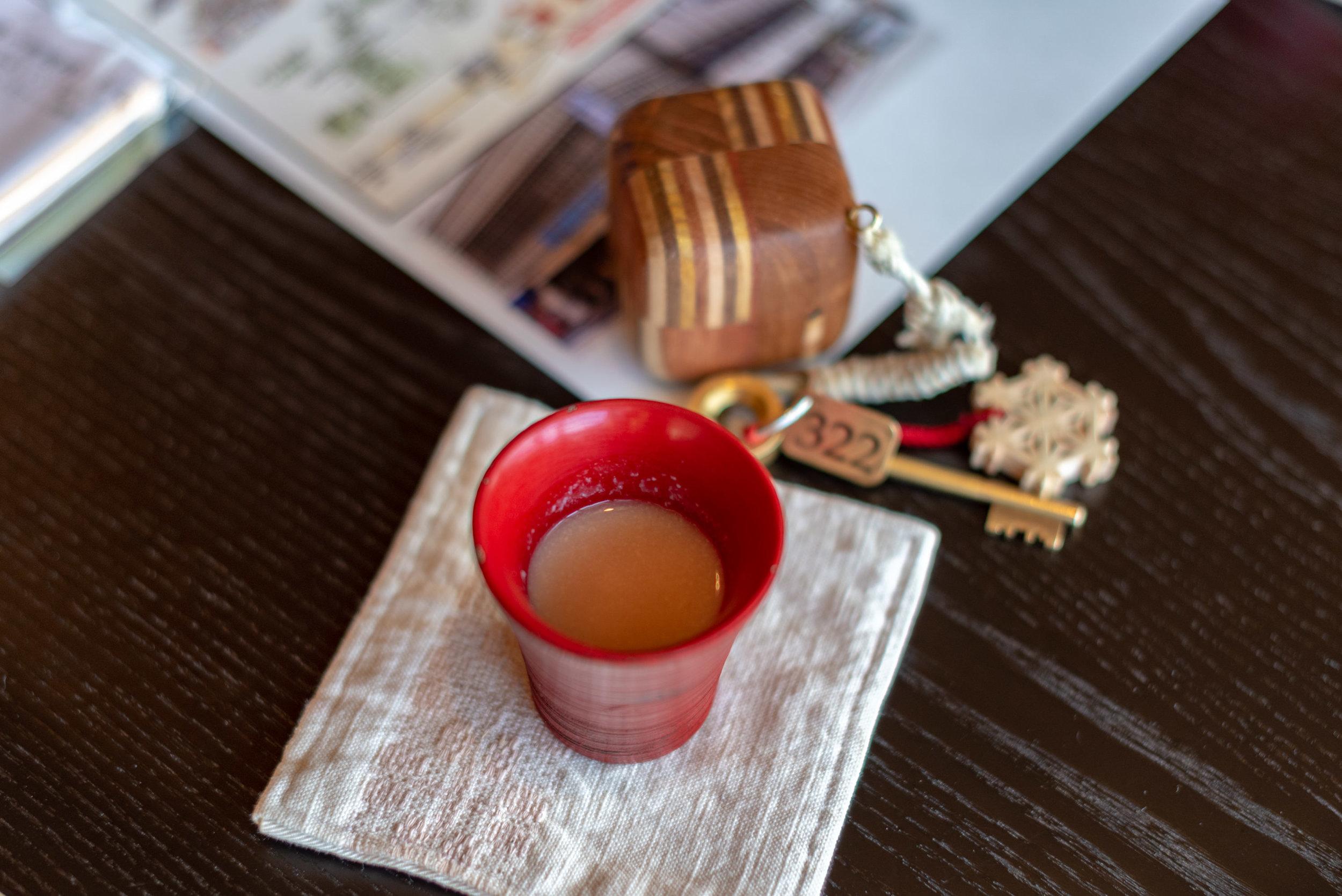 Amazake Welcome Drink  Japanese-style Room with Lake View GL2 - Hoshino Resorts KAI Nikko