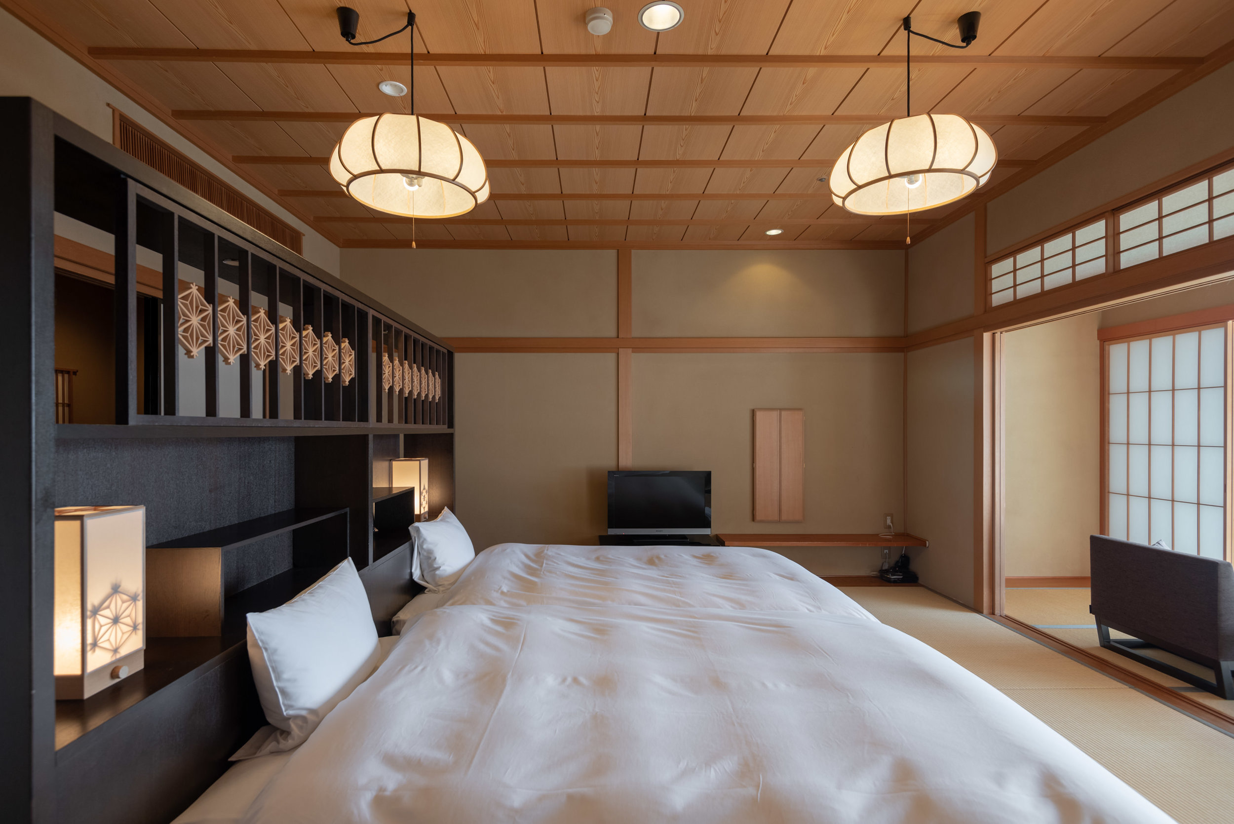 Bedroom  Japanese-style Room with Lake View GL2 - Hoshino Resorts KAI Nikko