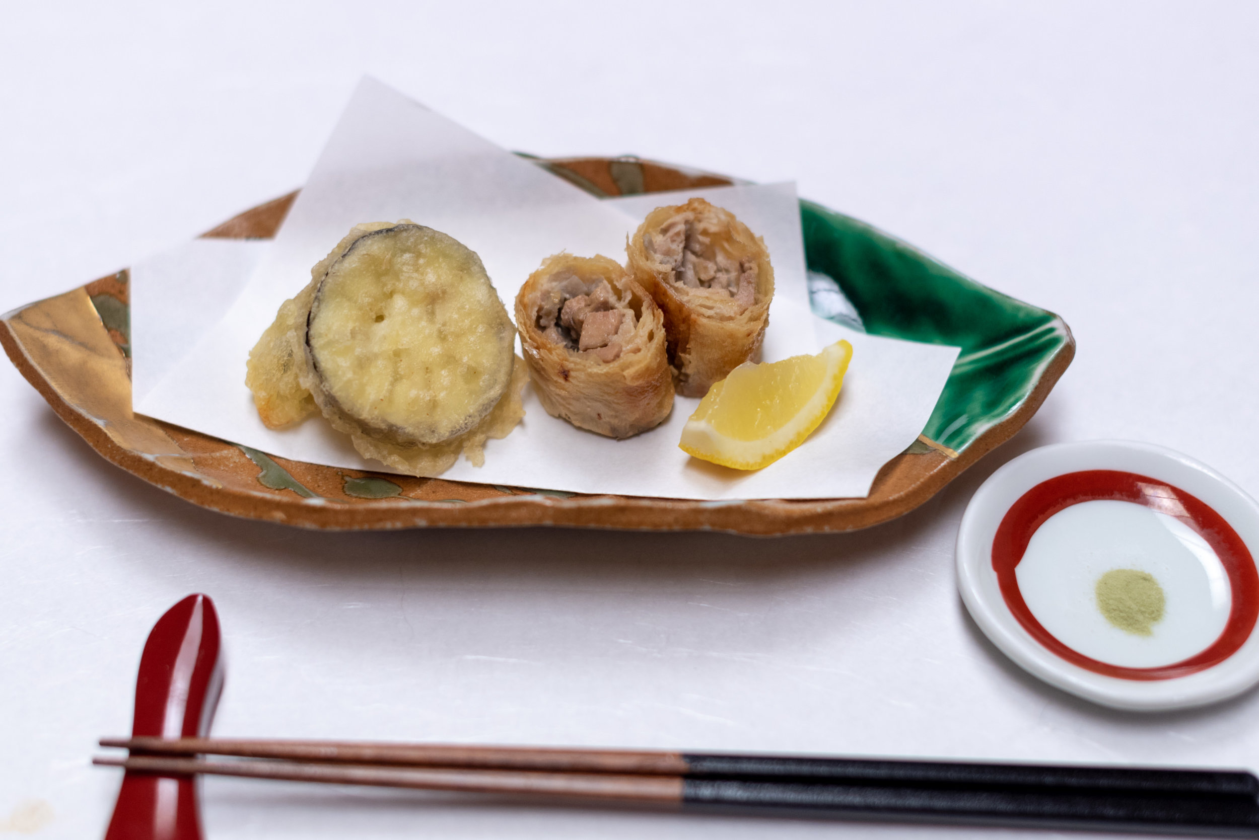 Deep-fried Chicken, Vegetables and Foie Gras wrapped in Yuba  Dinner - Hoshino Resorts KAI Nikko