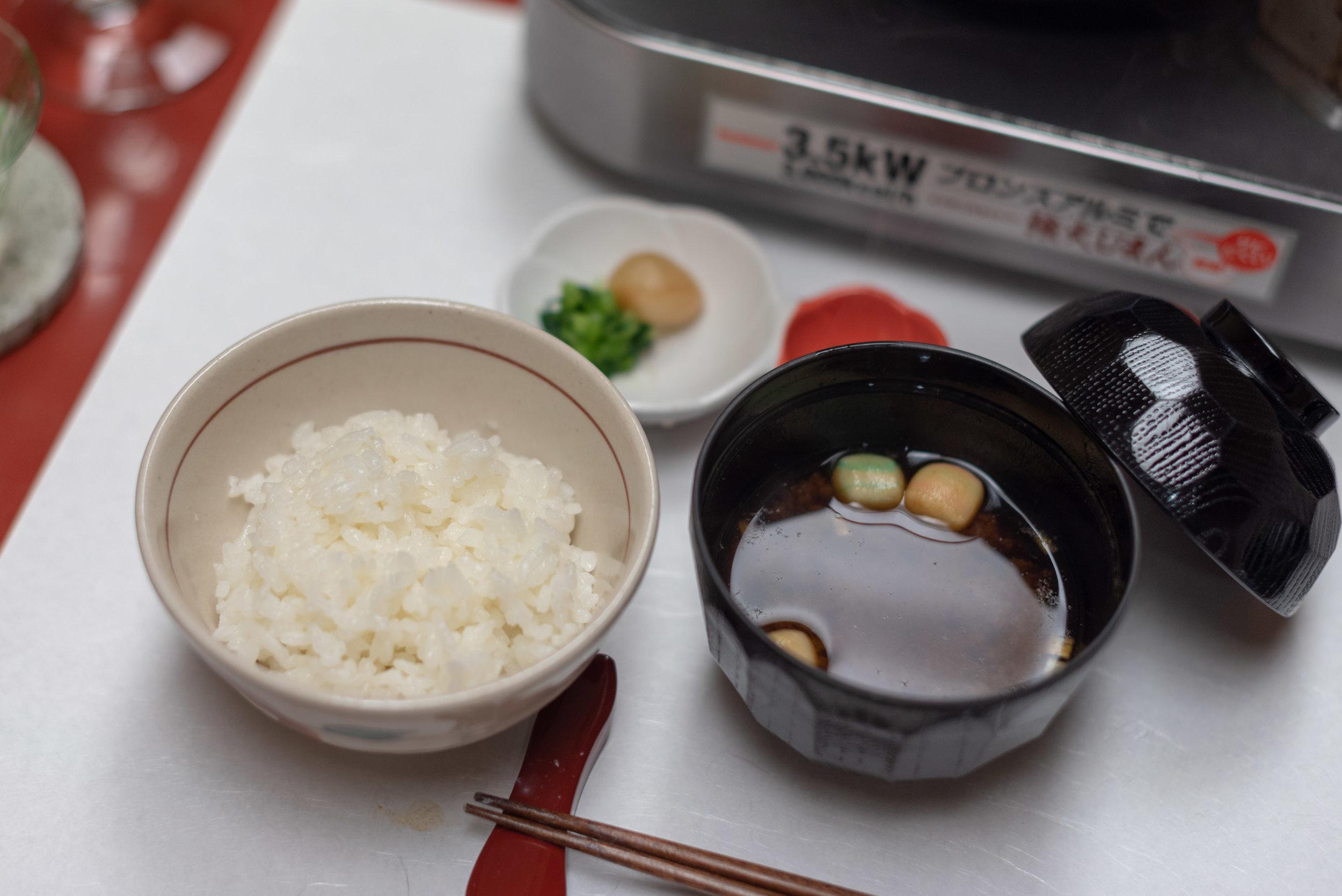 Rice and Miso Soup  Dinner - Hoshino Resorts KAI Nikko
