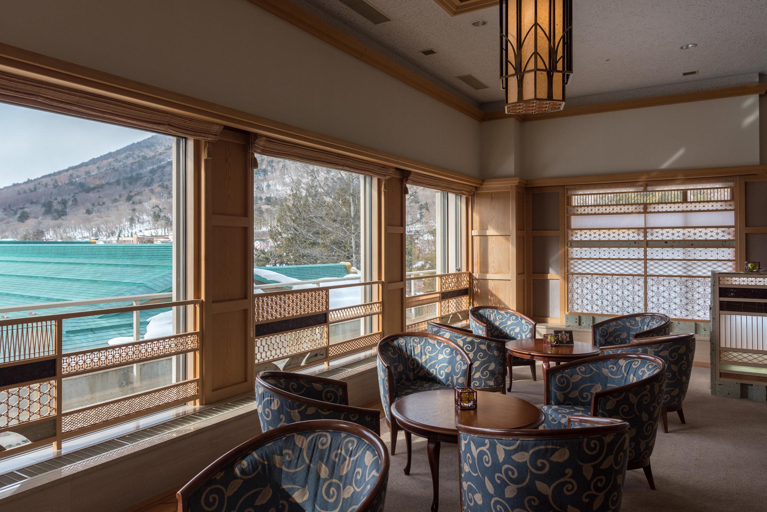 Traditional Japanese Living Space (Lounge)  Hoshino Resorts KAI Nikko