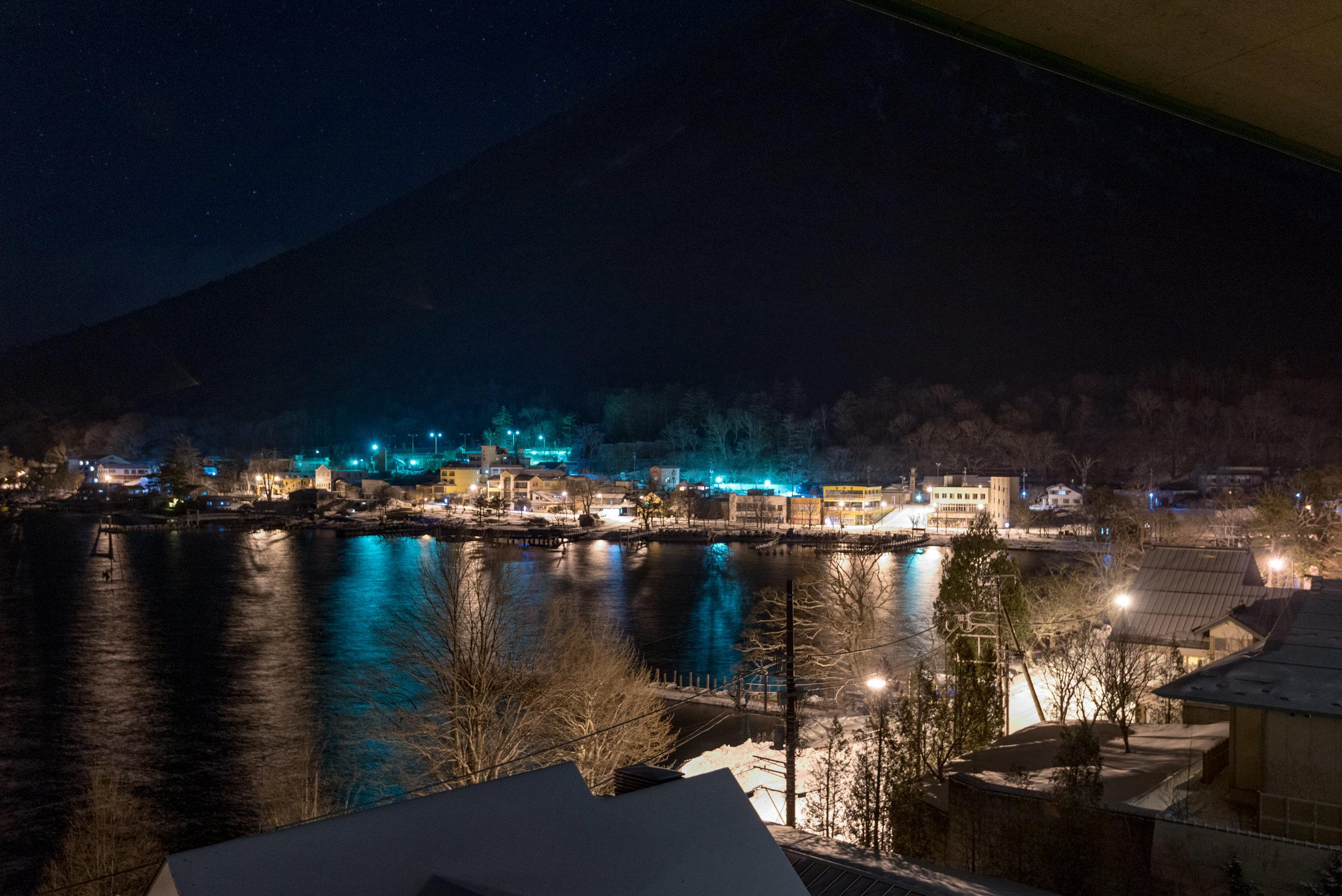 Night View from Room  Japanese-style Room with Lake View GL2 - Hoshino Resorts KAI Nikko