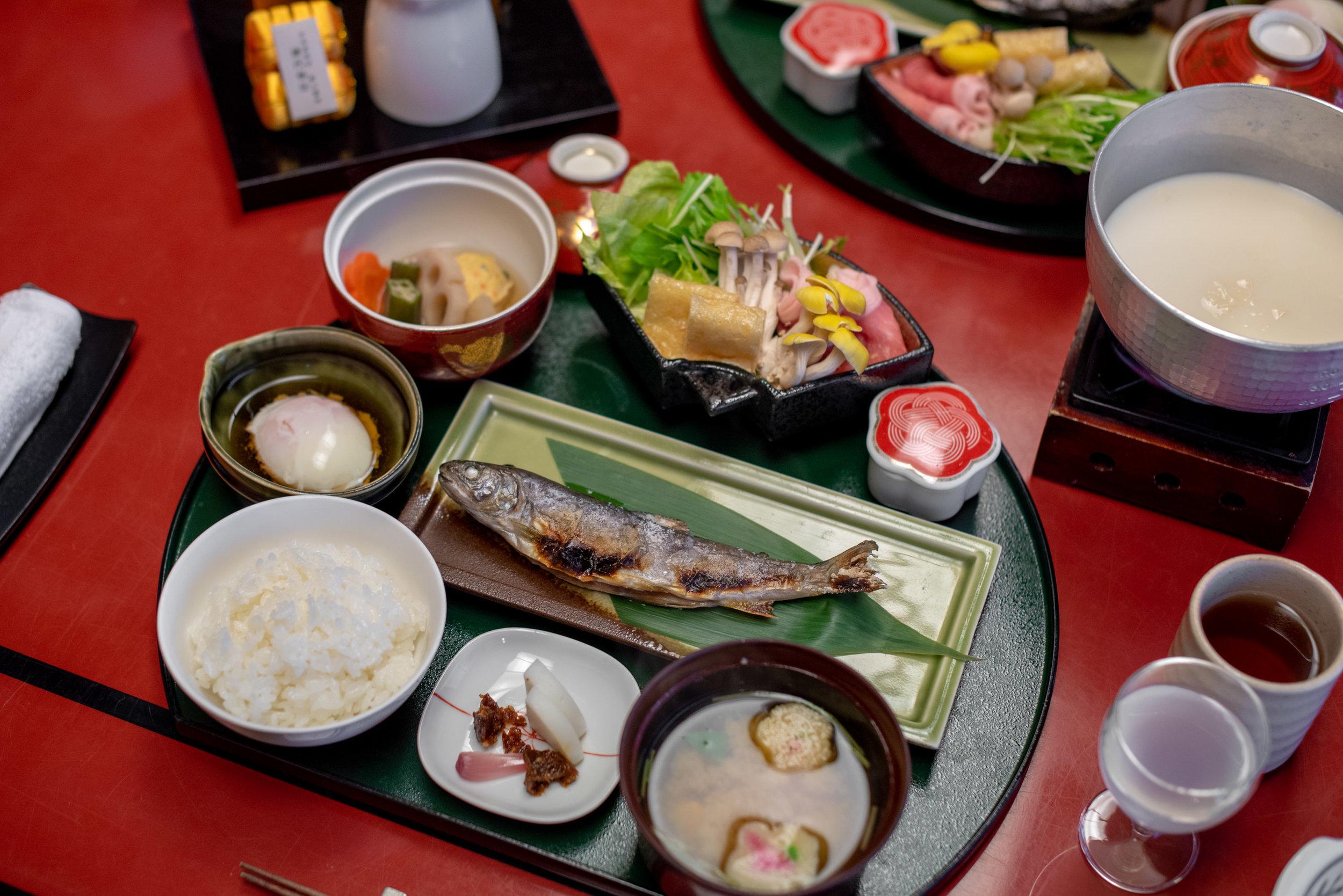 Yuba Hotpot and Seasonal Delicacies  Breakfast - Hoshino Resorts KAI Nikko