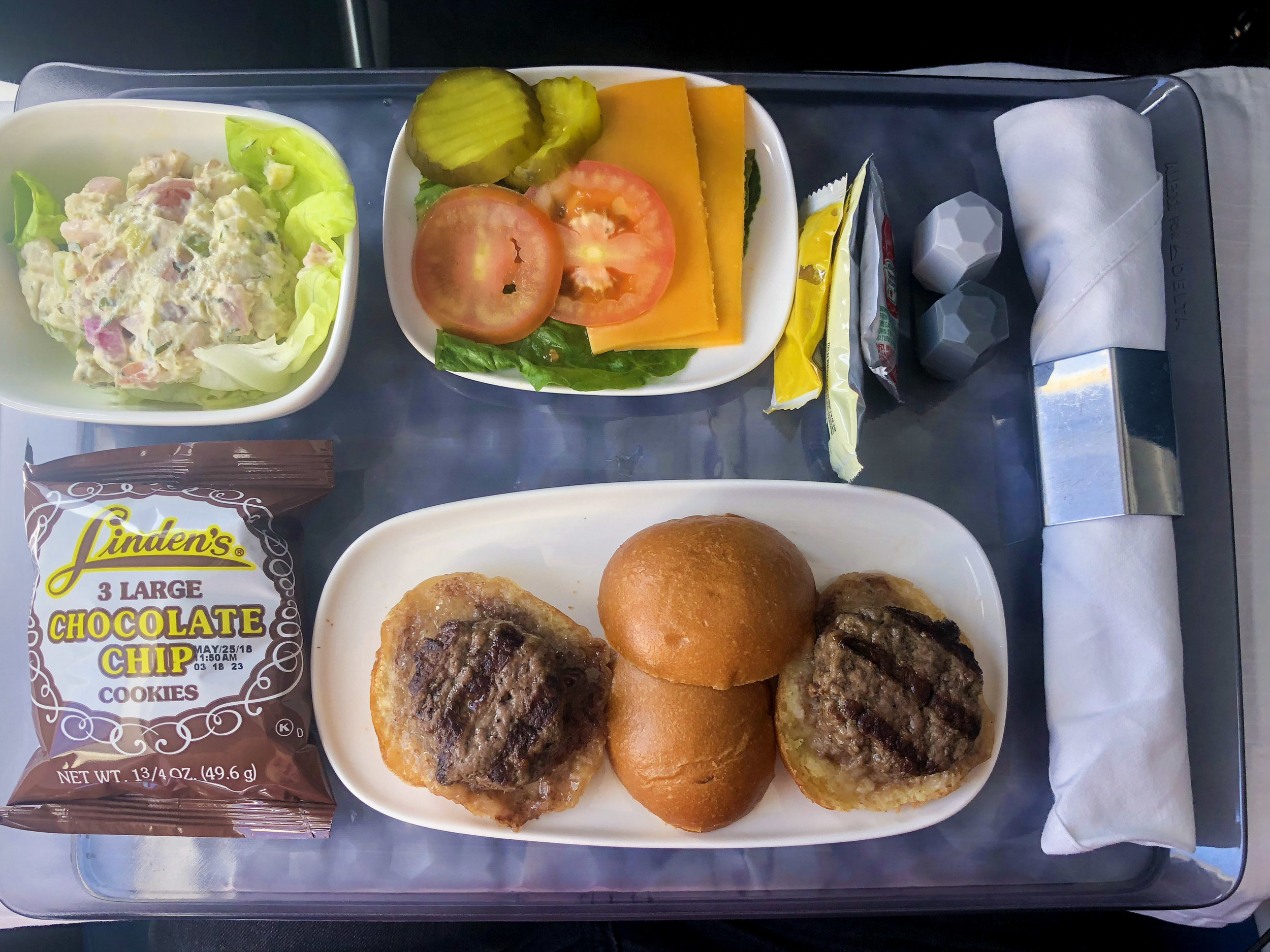 Beef Sliders   Delta Air Lines First Class - JFK to TPA