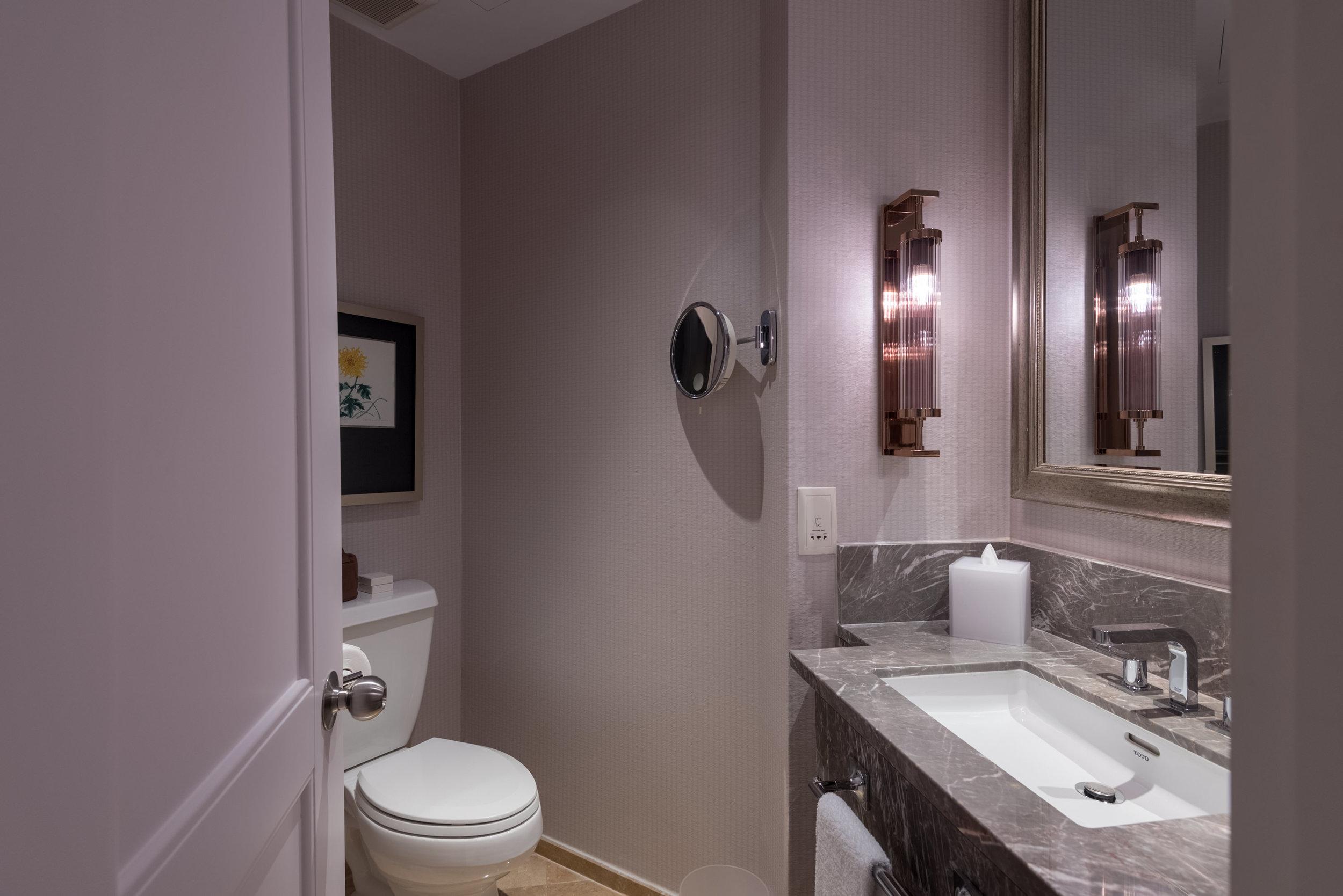 Guest Powder Room  Four Seasons Executive Suite - Four Seasons Hotel Singapore