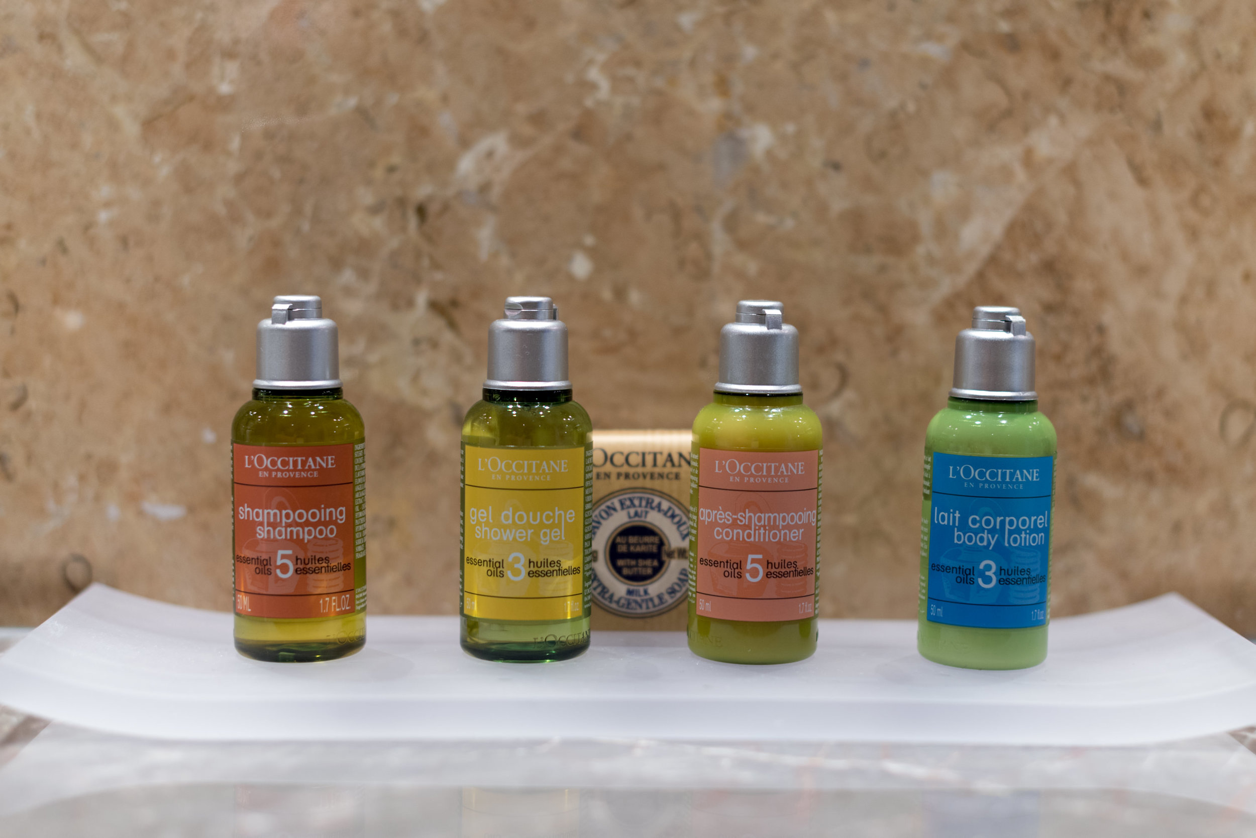 Bath Amenities from L'Occitane en Provence  Four Seasons Executive Suite - Four Seasons Hotel Singapore