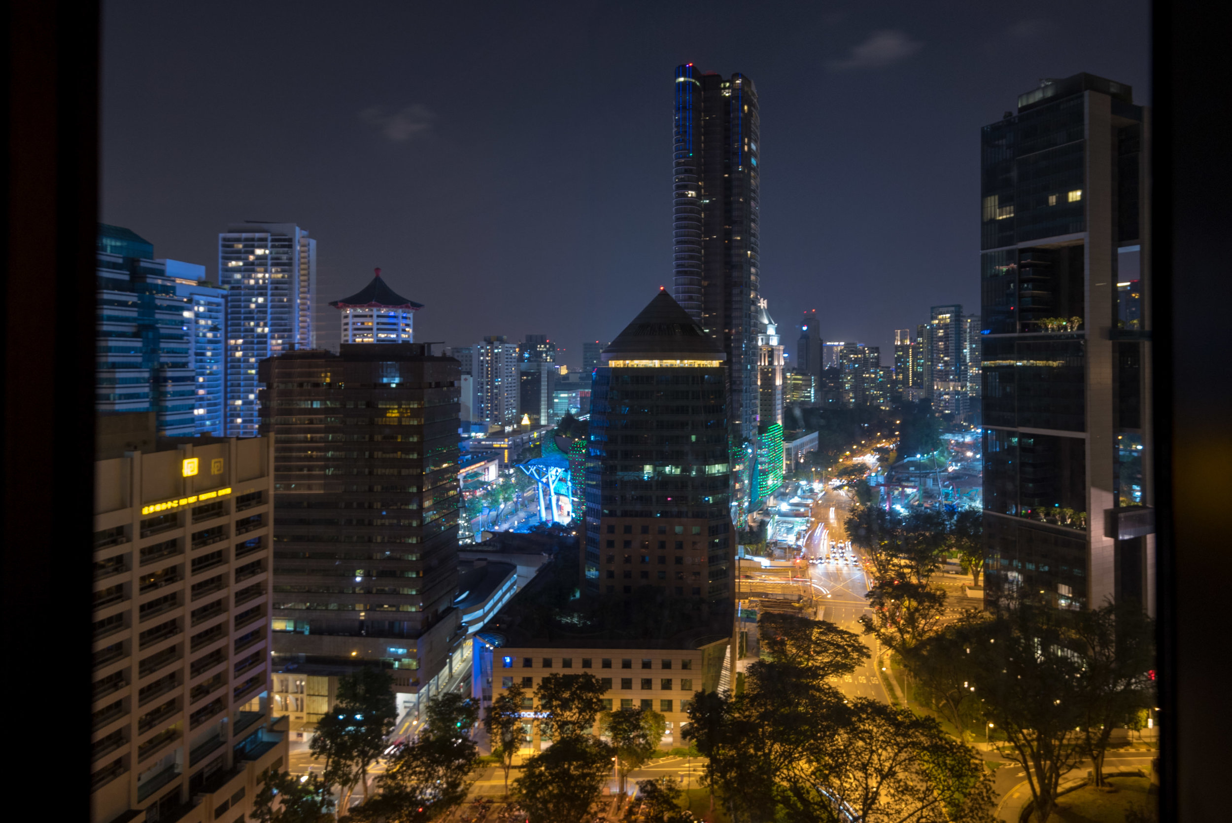 Night View from Suite  Four Seasons Executive Suite - Four Seasons Hotel Singapore